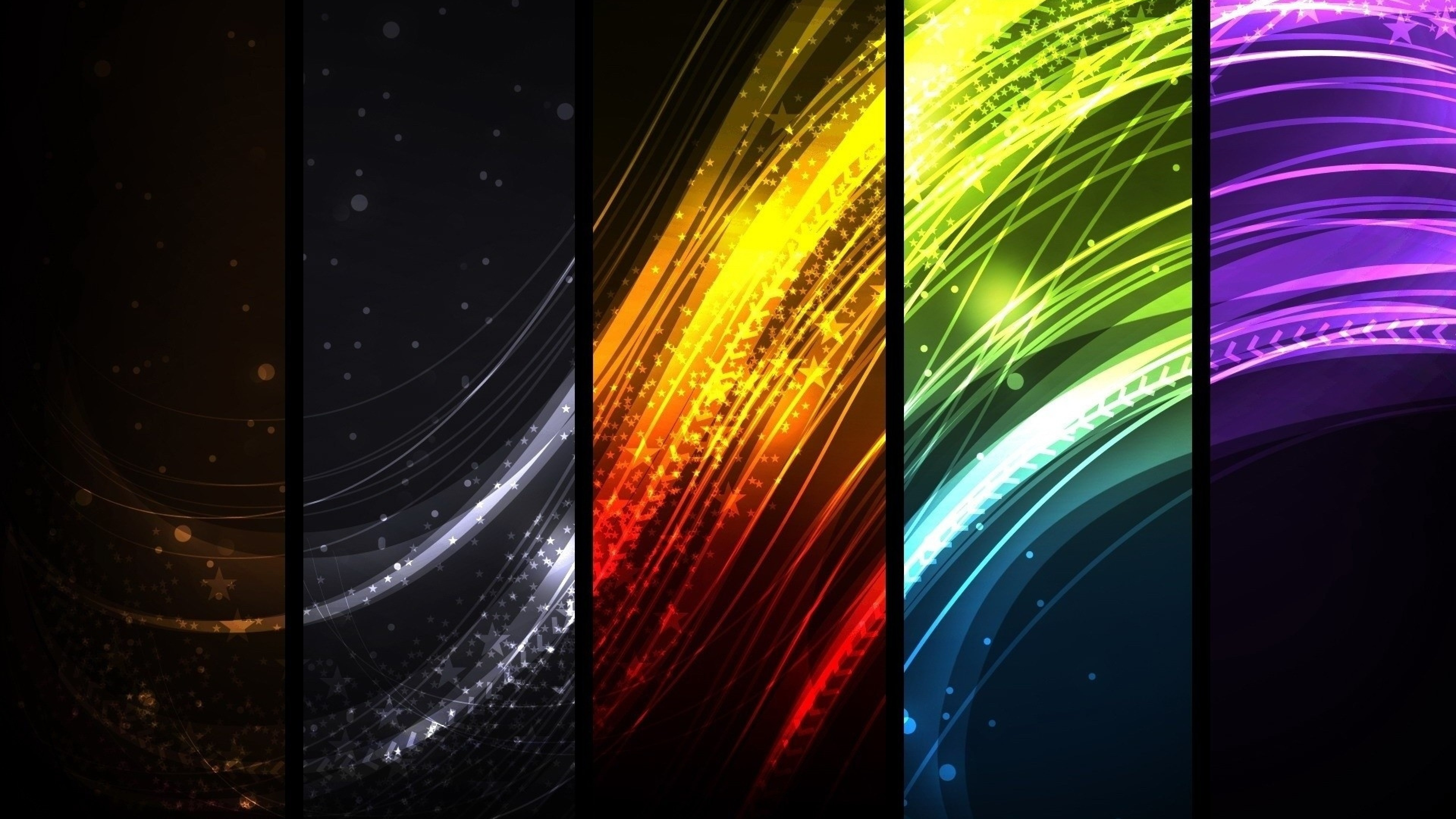… Background 4K Ultra HD. Wallpaper colorful, rays, lines,  rectangles