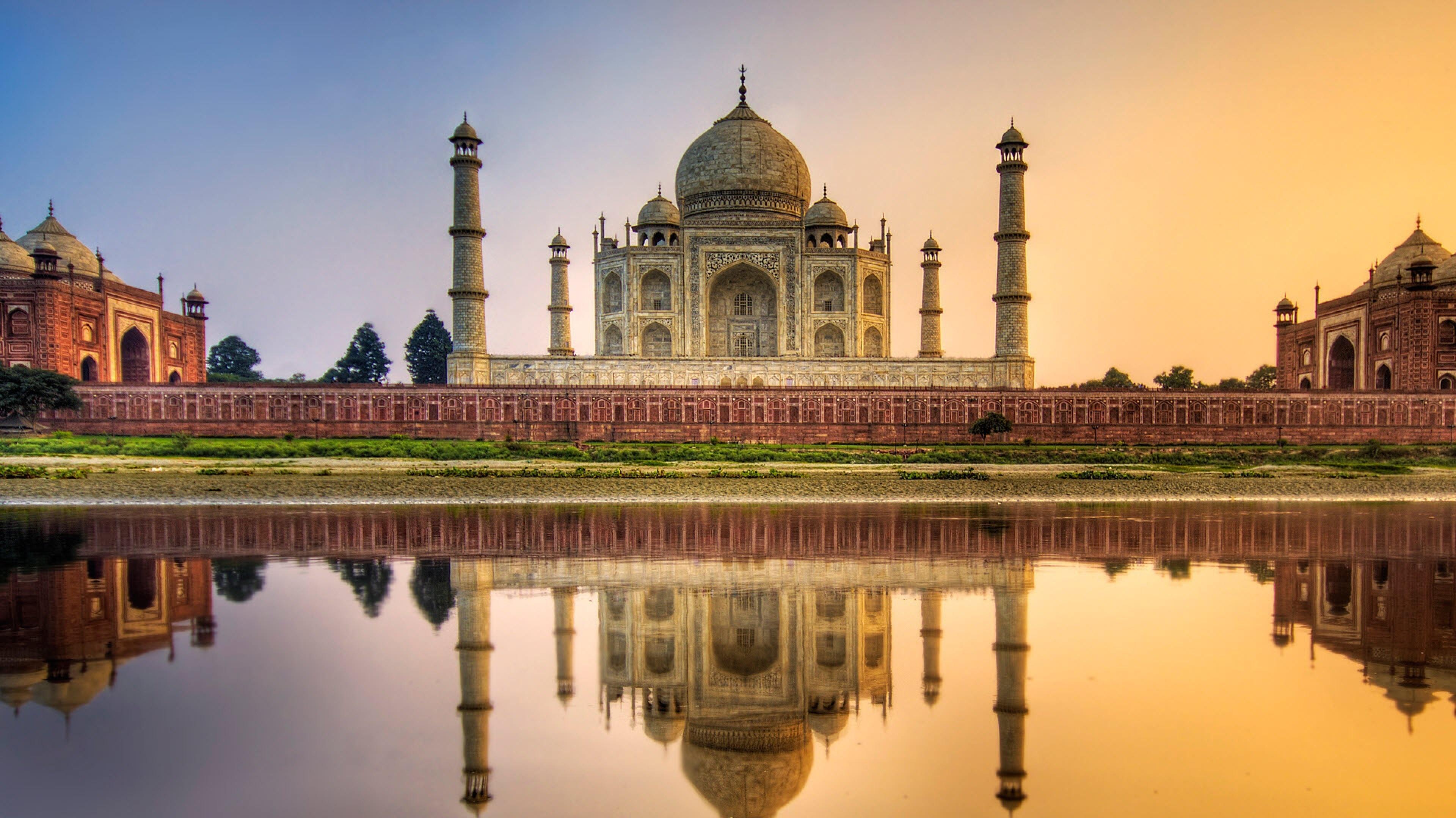 Preview wallpaper taj mahal, agra, india, mausoleum, mosque 3840×2160