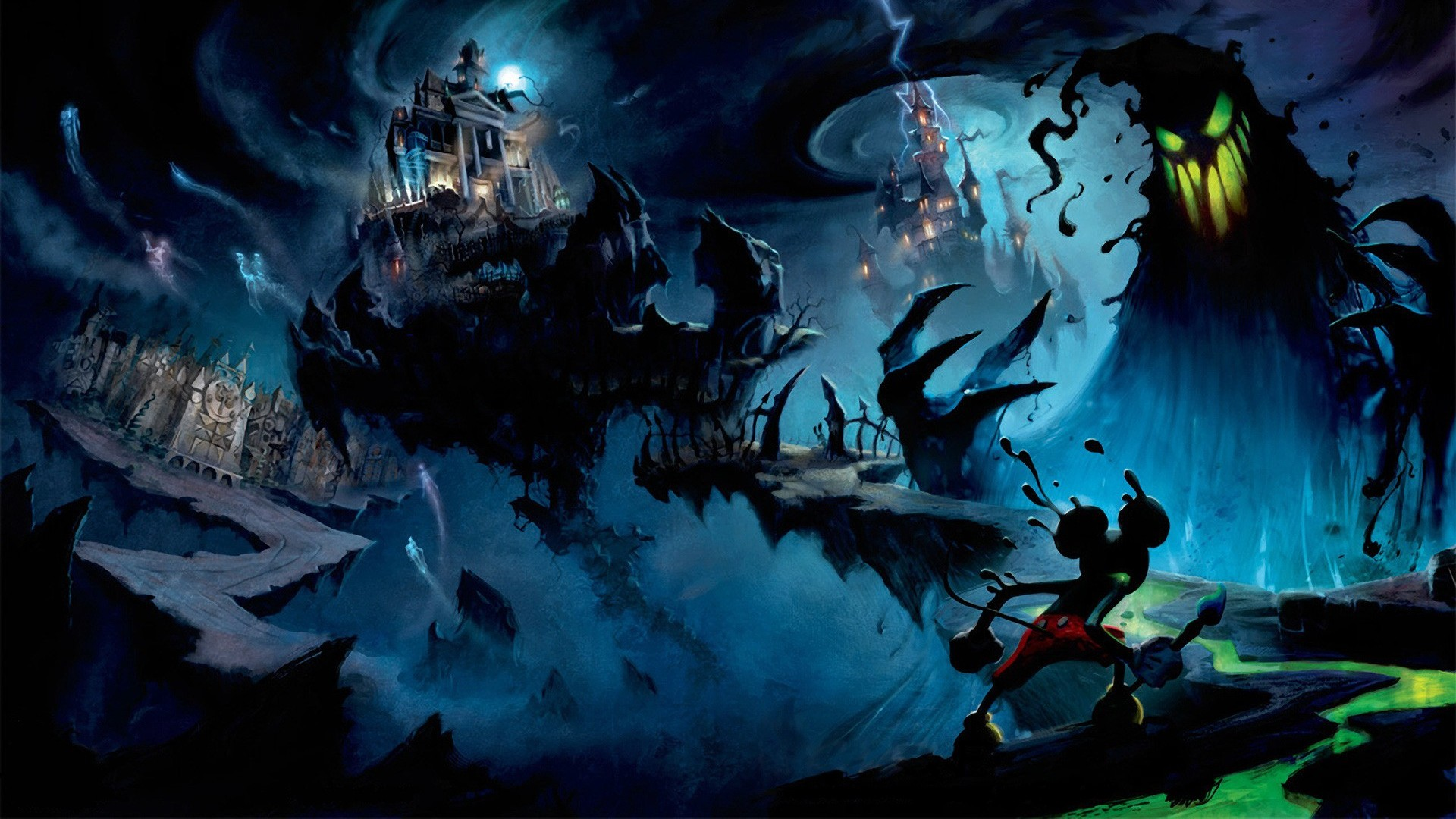Wallpaper disney epic mickey, junction point studios, oswald  lucky rabbit, mickey mouse