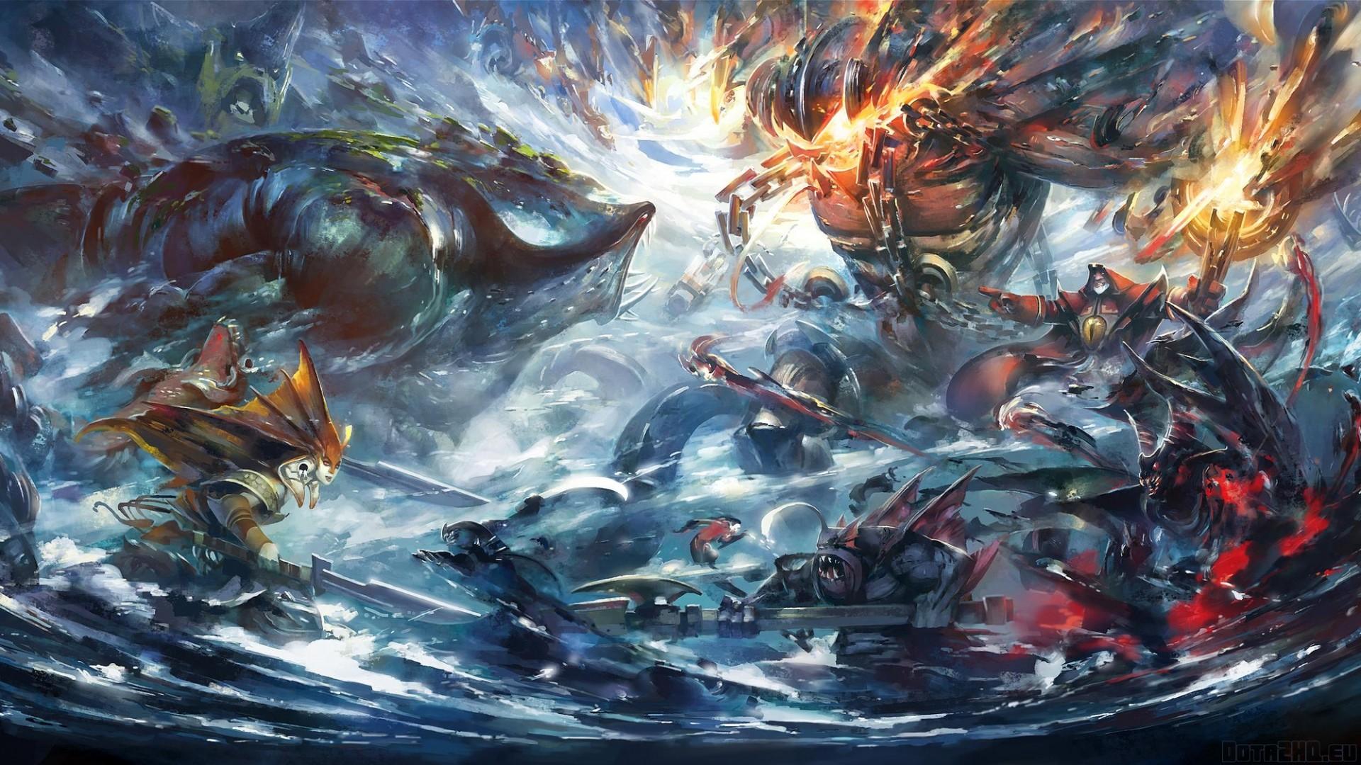 Preview wallpaper dota 2, epic battle, art 1920×1080