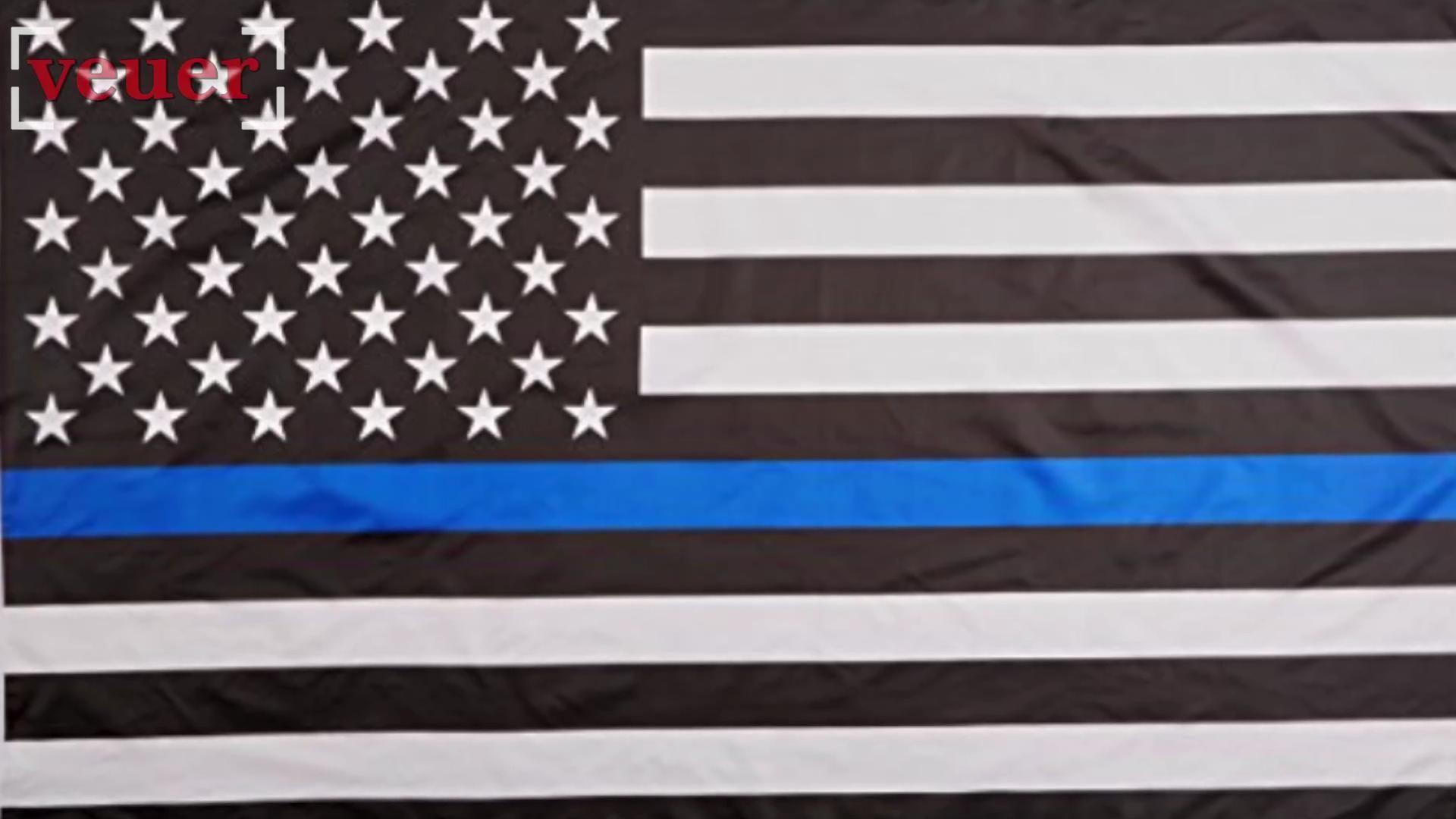 Police officer's daughter asked to remove 'Blue Lives Matter' flag