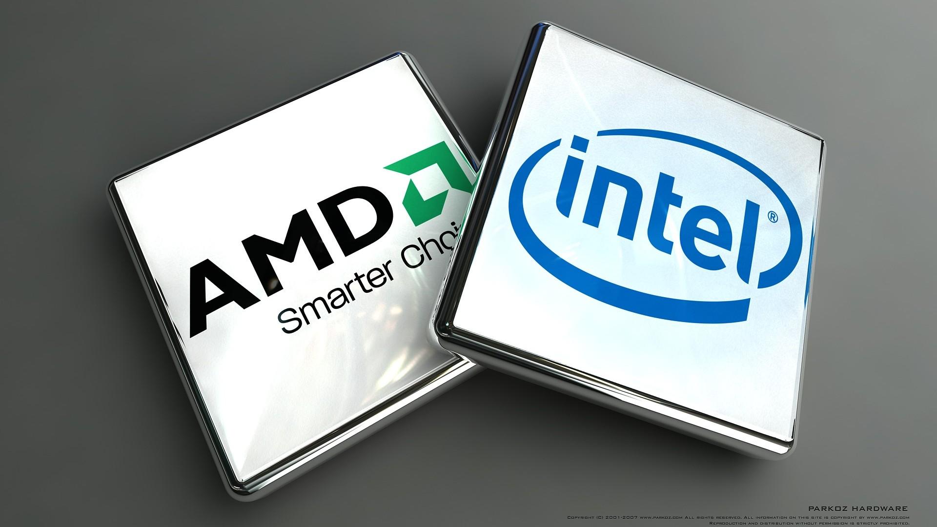 Wallpaper intel, amd, microprocessors, microchip