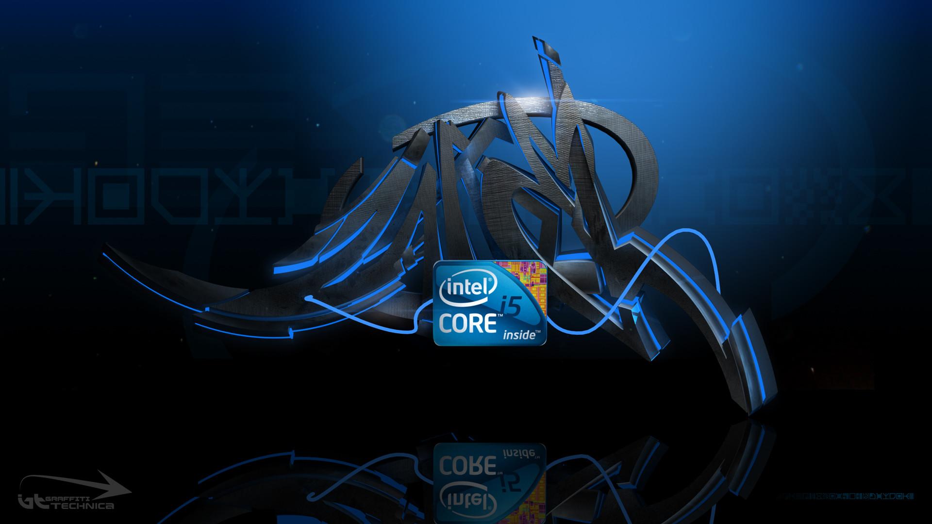 Intel core i5 graffiti HD Wallpaper