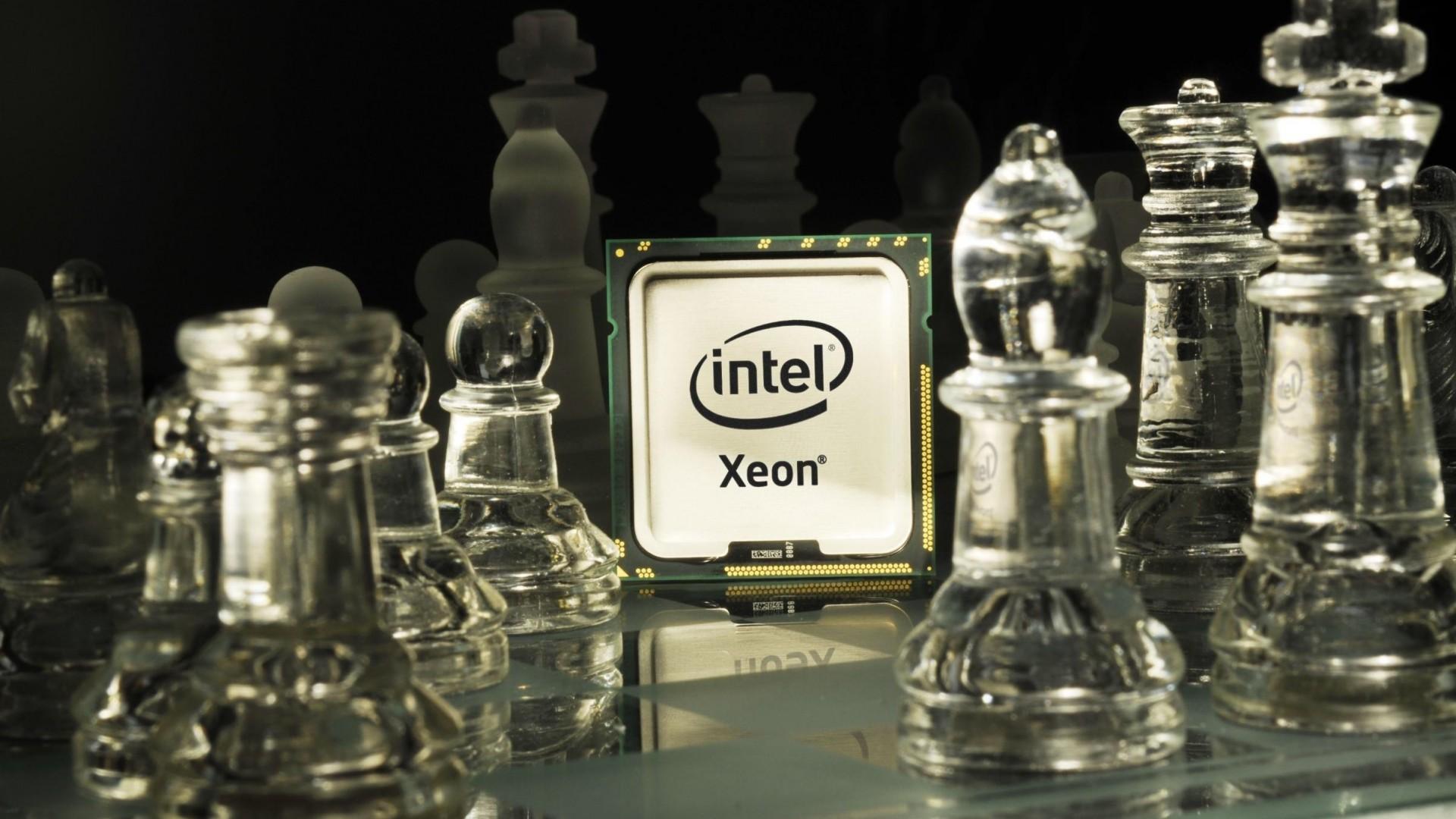 Wallpaper intel, xeon, processor, chess