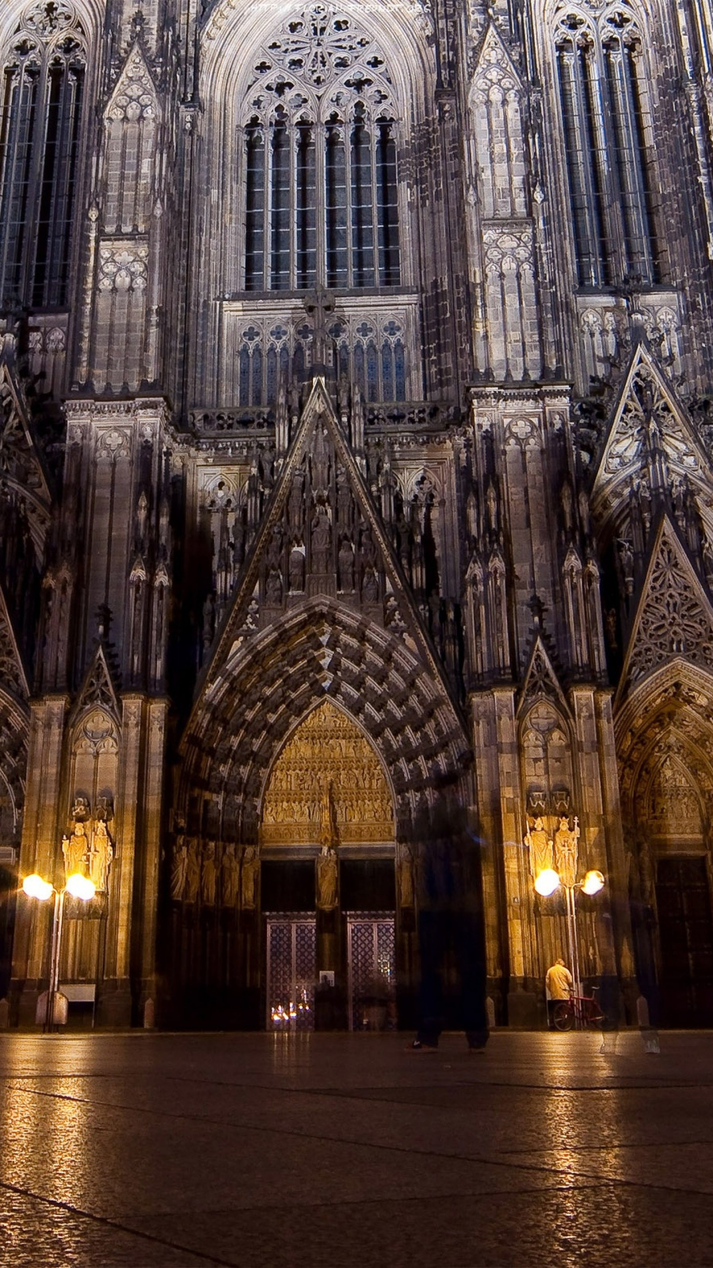 Preview wallpaper gothic, night, city, style, architecture 1440×2560