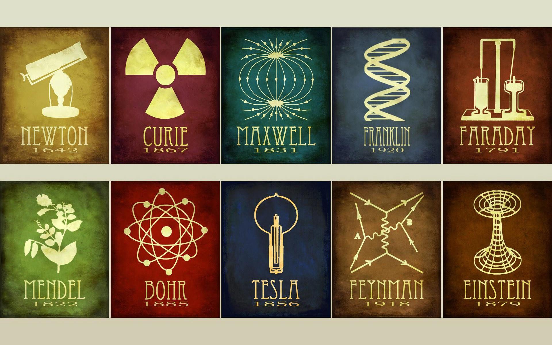 Scientist symbols HD Wallpaper