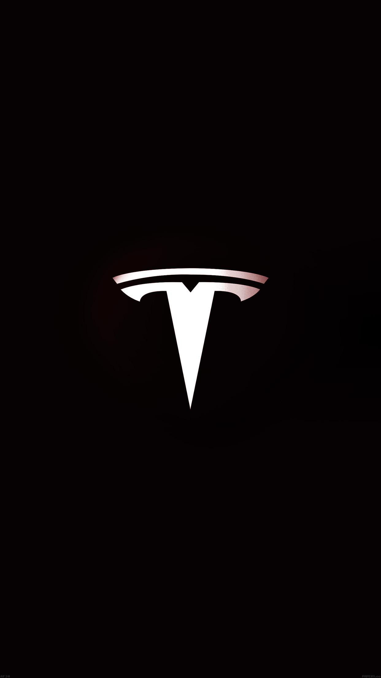 Tesla Motors Logo Dark Iphone 6 Plus Hd Wallpaper