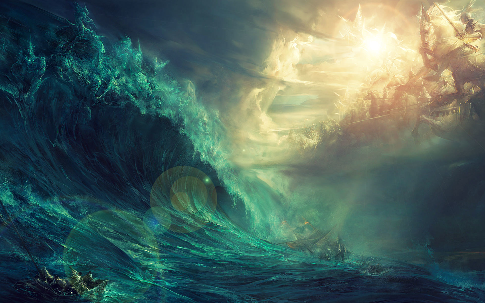 Epic Gods of Land vs Sea Wallpaper