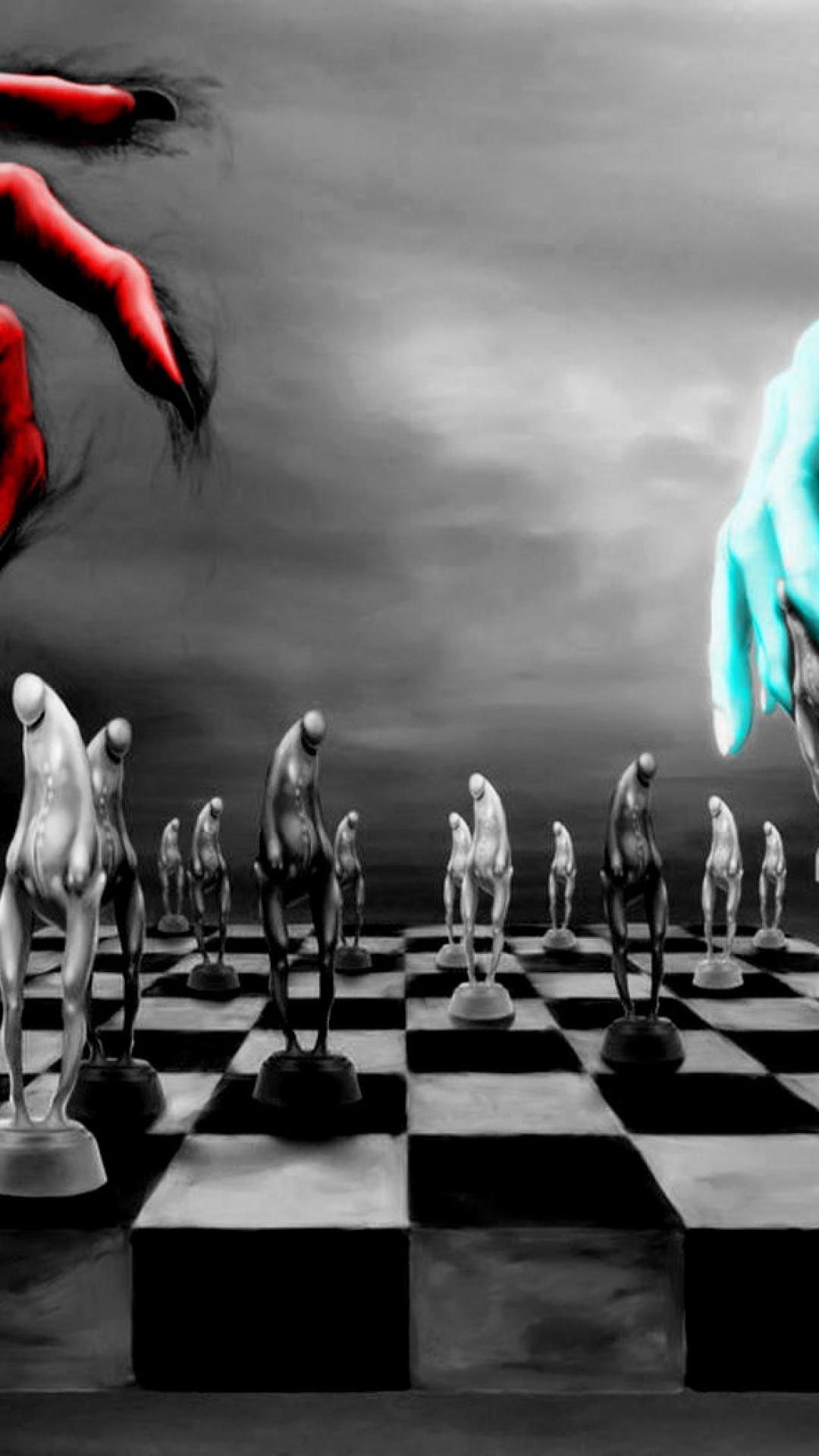 Chess God Vs Devil Wallpaper