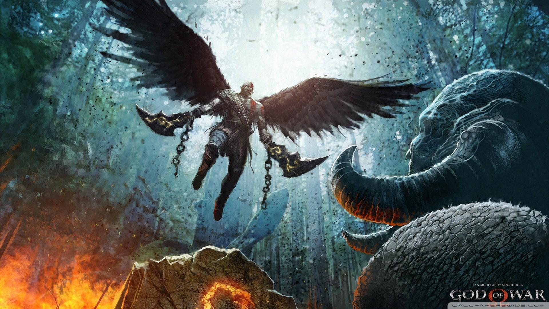 God of War PS4 2017 HD Wide Wallpaper for Widescreen