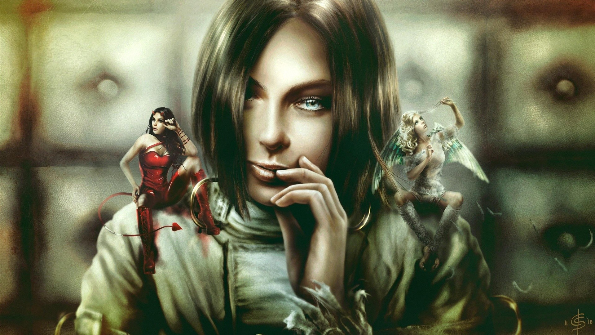 Download Fantasy Girl Devil Angel Wallpaper | Full HD Wallpapers