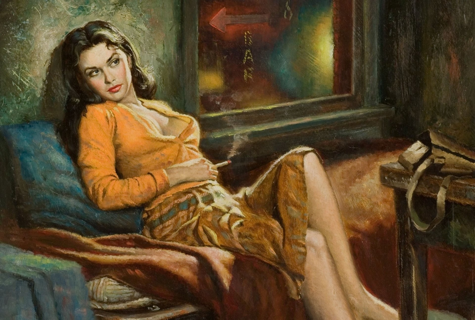 painting picture pattern girl pin-up girls art paintings