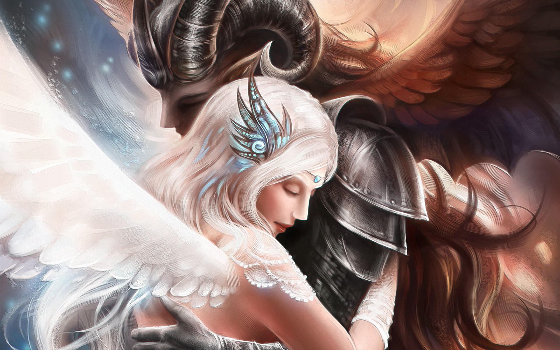 images of angels | Demon Angel Love Photos Images Pictures Wallpaper