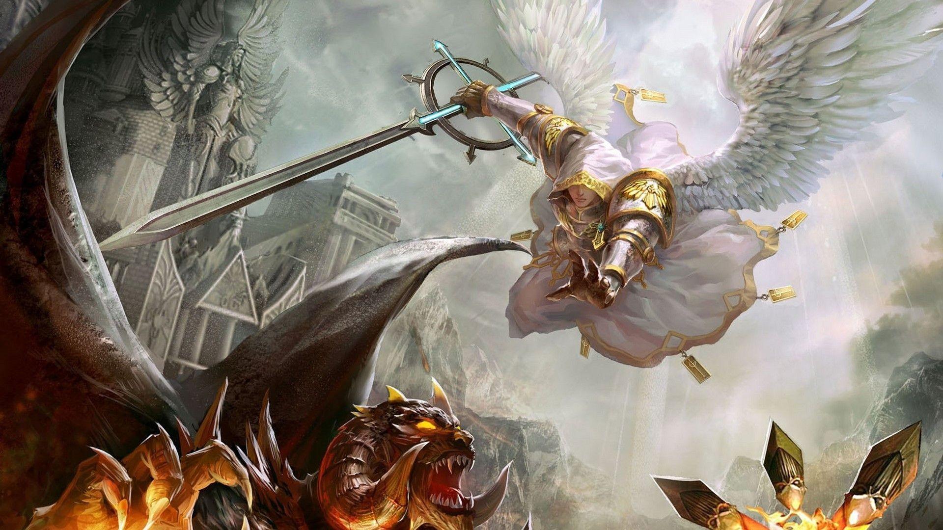 Extra Wallpapers – Angel vs demon
