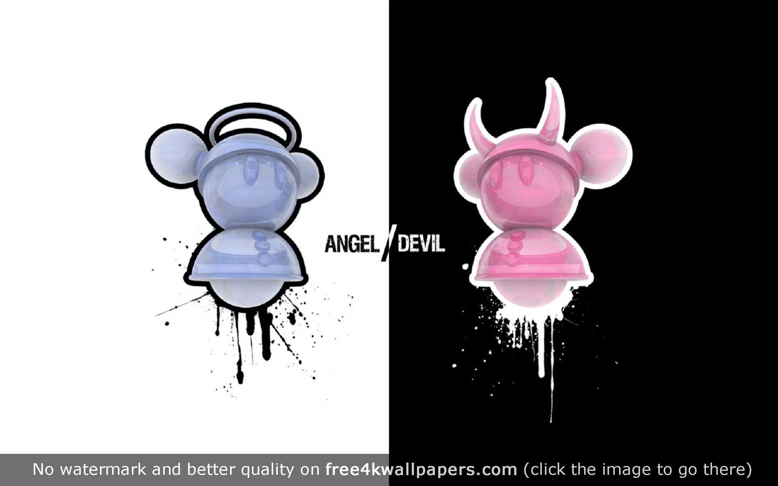 devil angel wallpaper