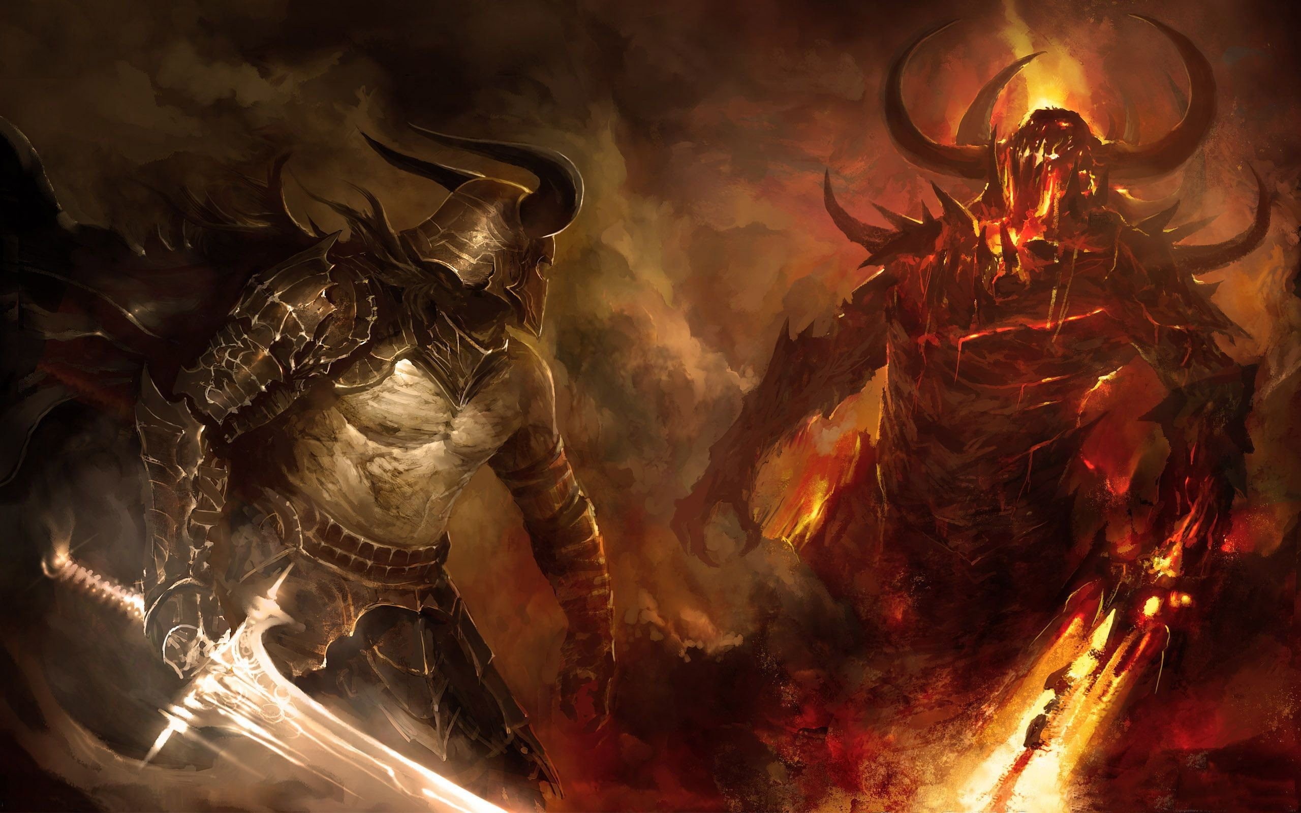 Wallpapers Demons Angel Displaying Images For Angels Vs War .