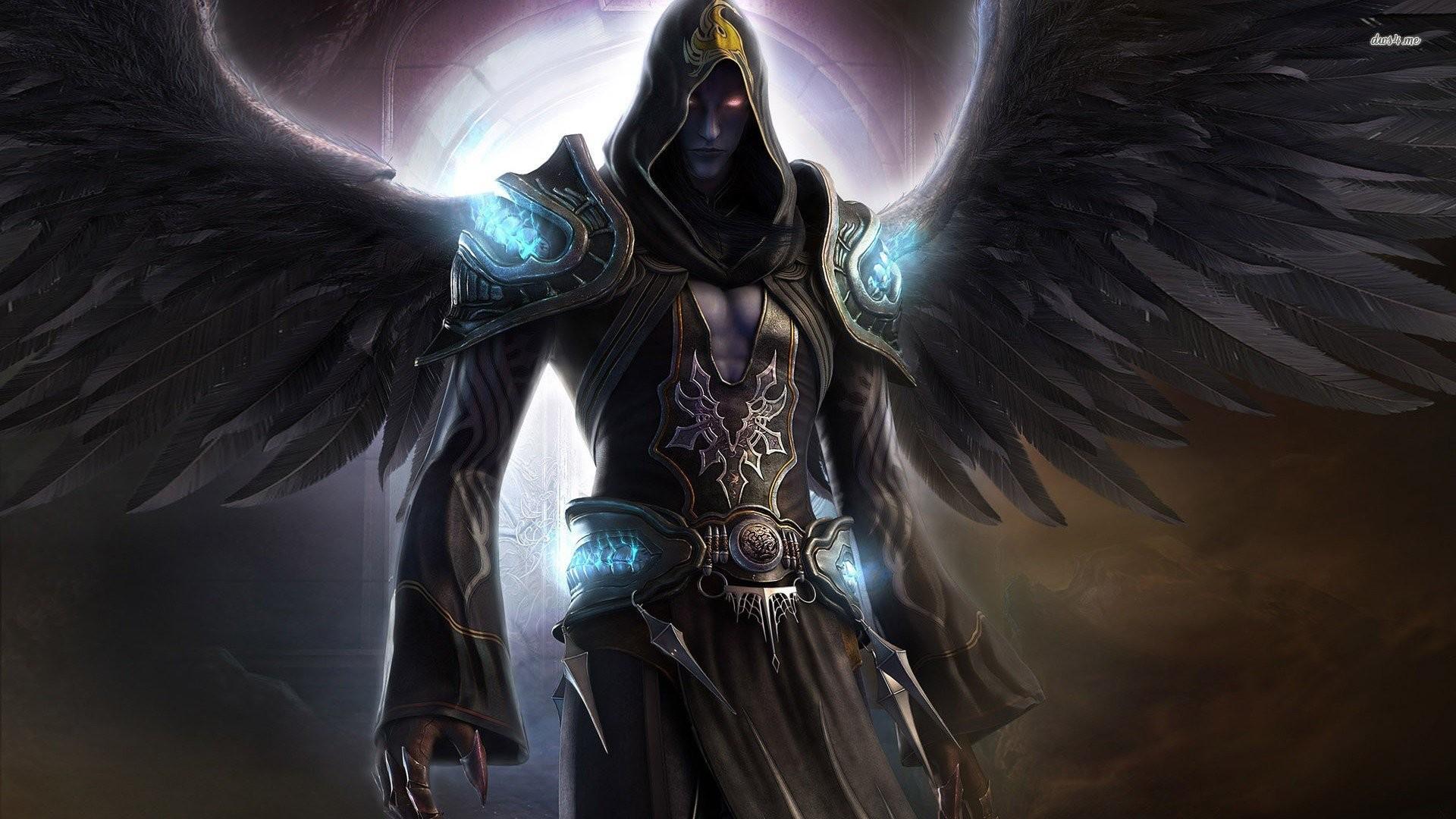 Dark Angel Wings Dark Fantasy Magician Force Angels R