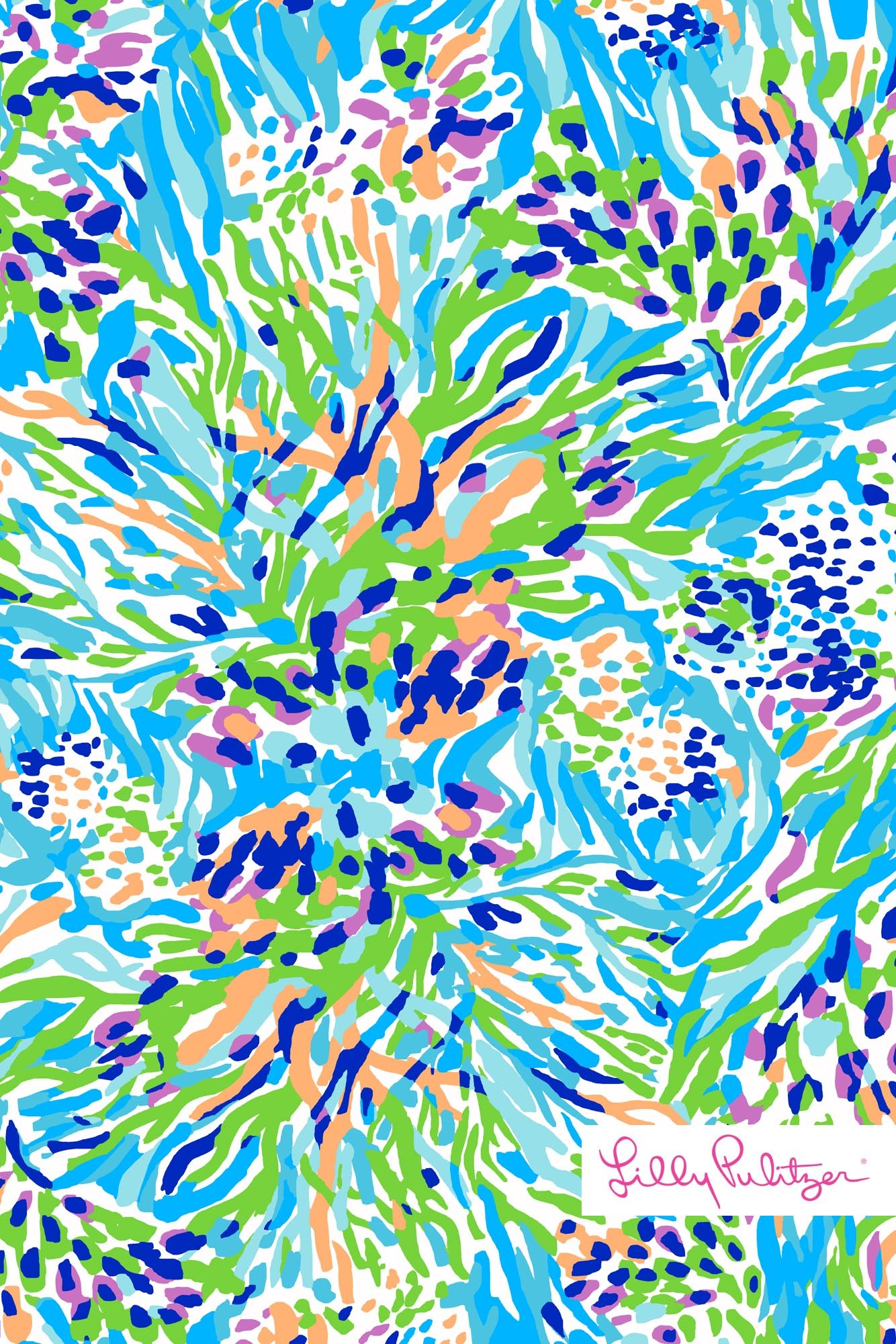 Lilly Pulitzer Sea Soiree Print iphone wallpaper