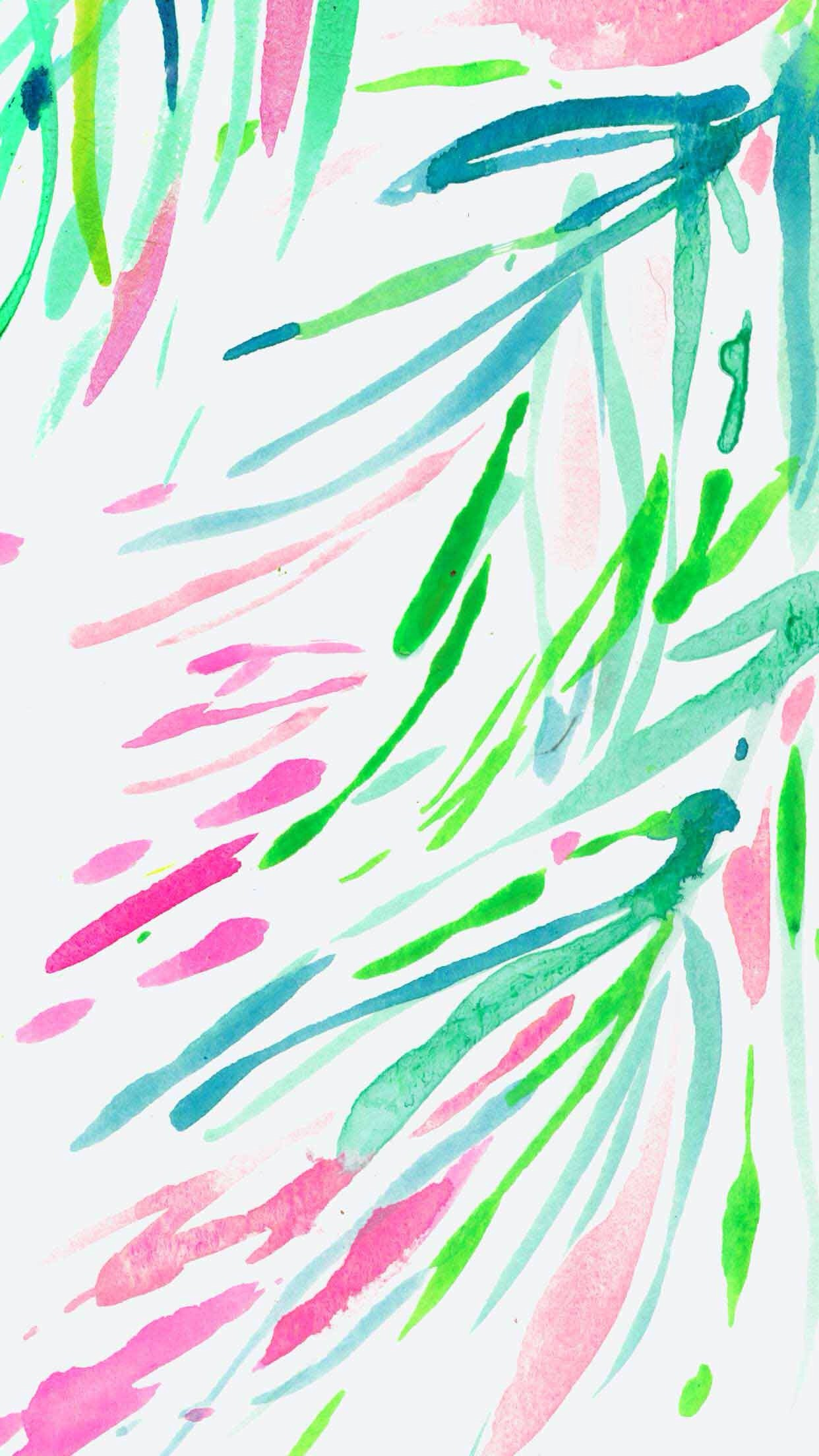 Lilly Pulitzer ☆ Find more watercolor #iPhone + #Android #Wallpapers at…