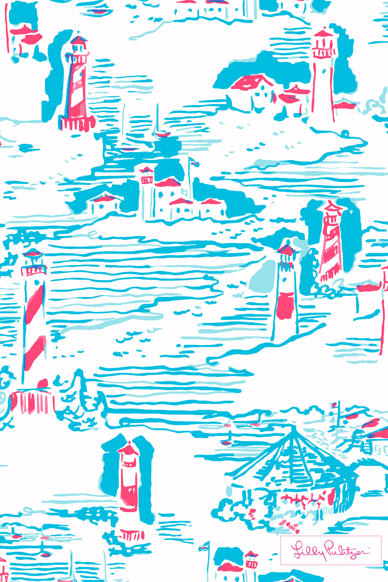 Lilly Pulitzer Summer Watch Out iphone wallpaper