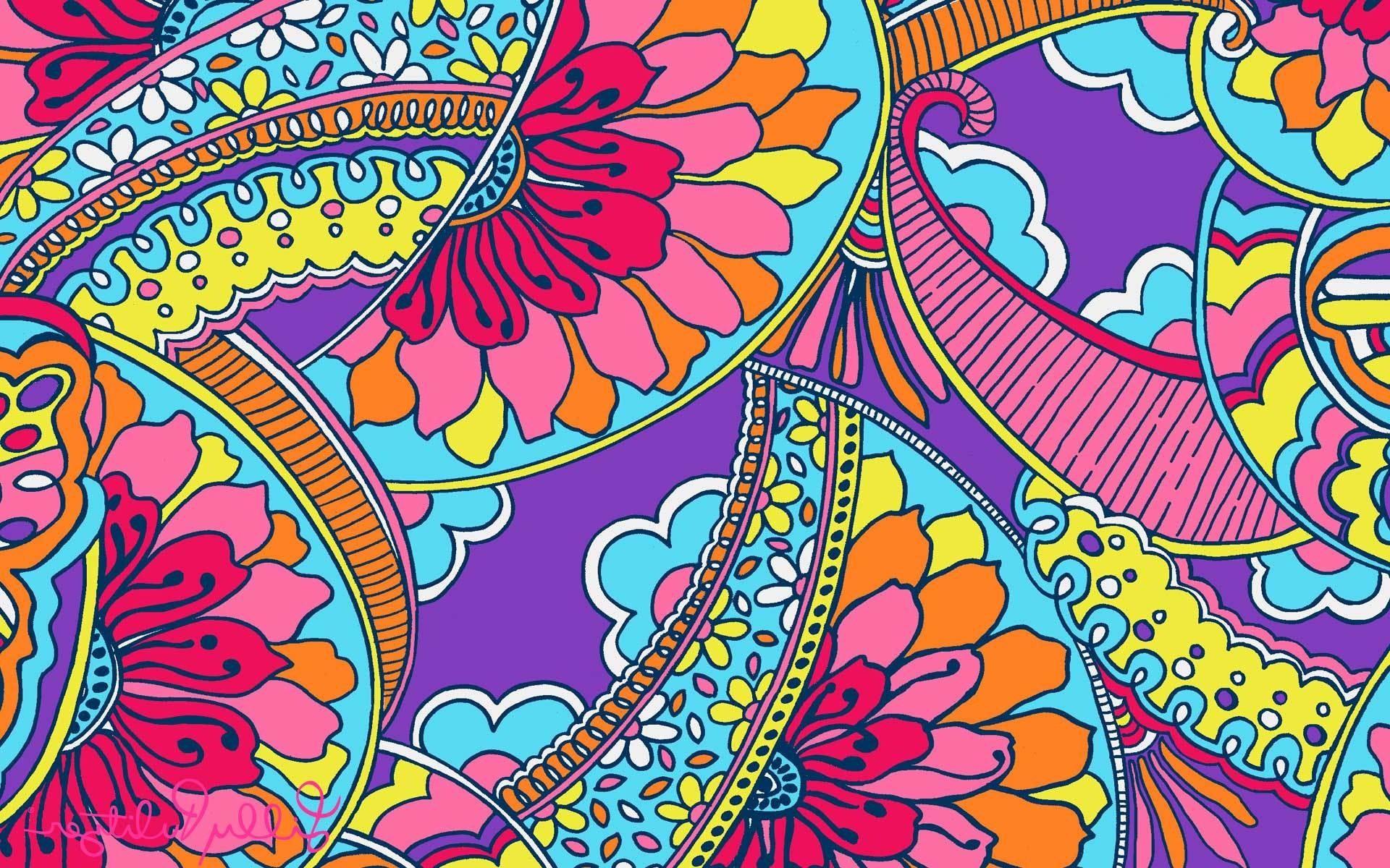 Lilly Pulitzer Patterns Purple