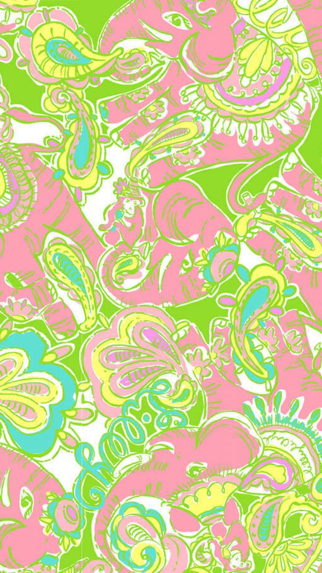 lilly pulitzer patterns elephant