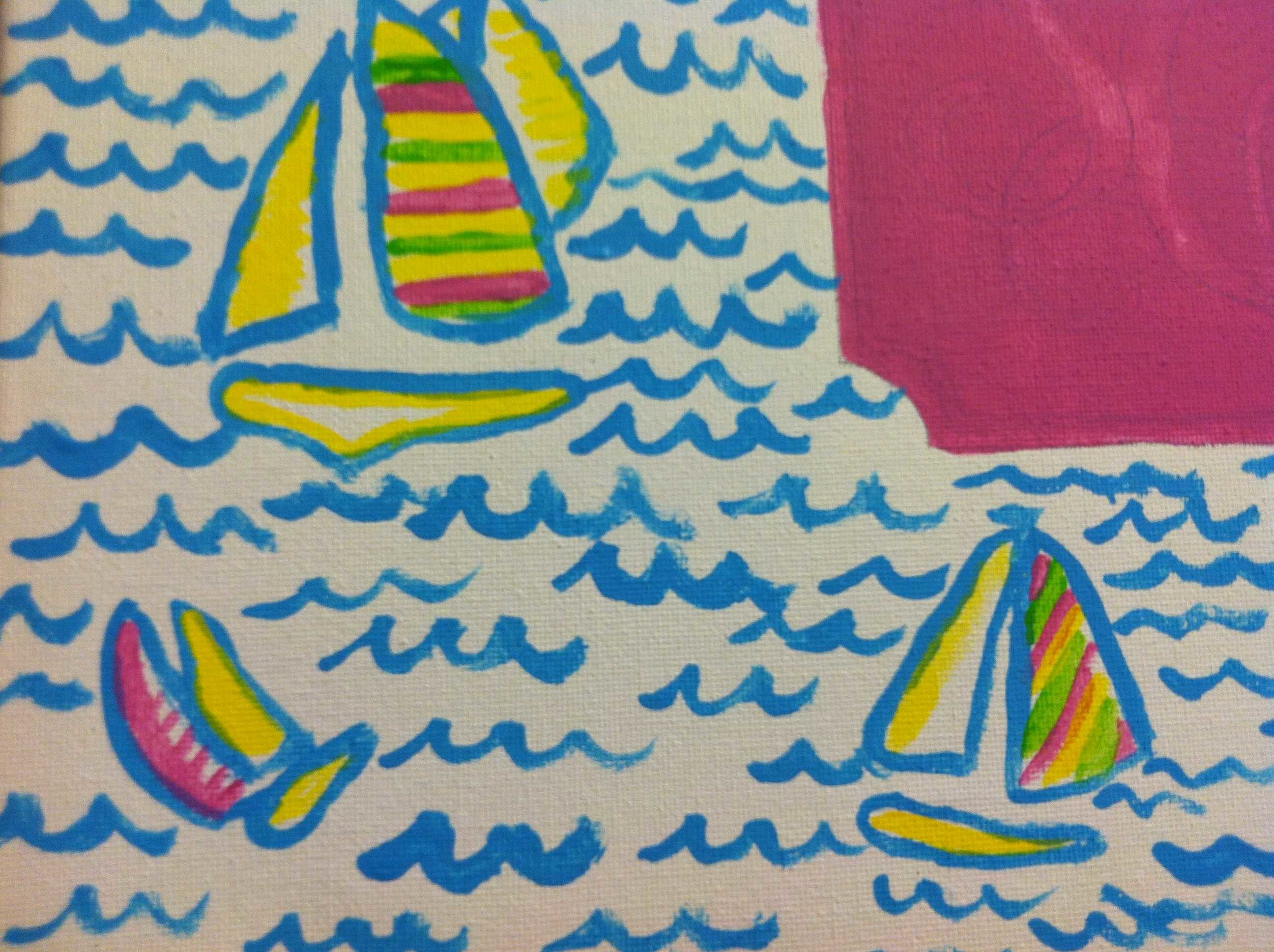 easy lilly pulitzer patterns to paint
