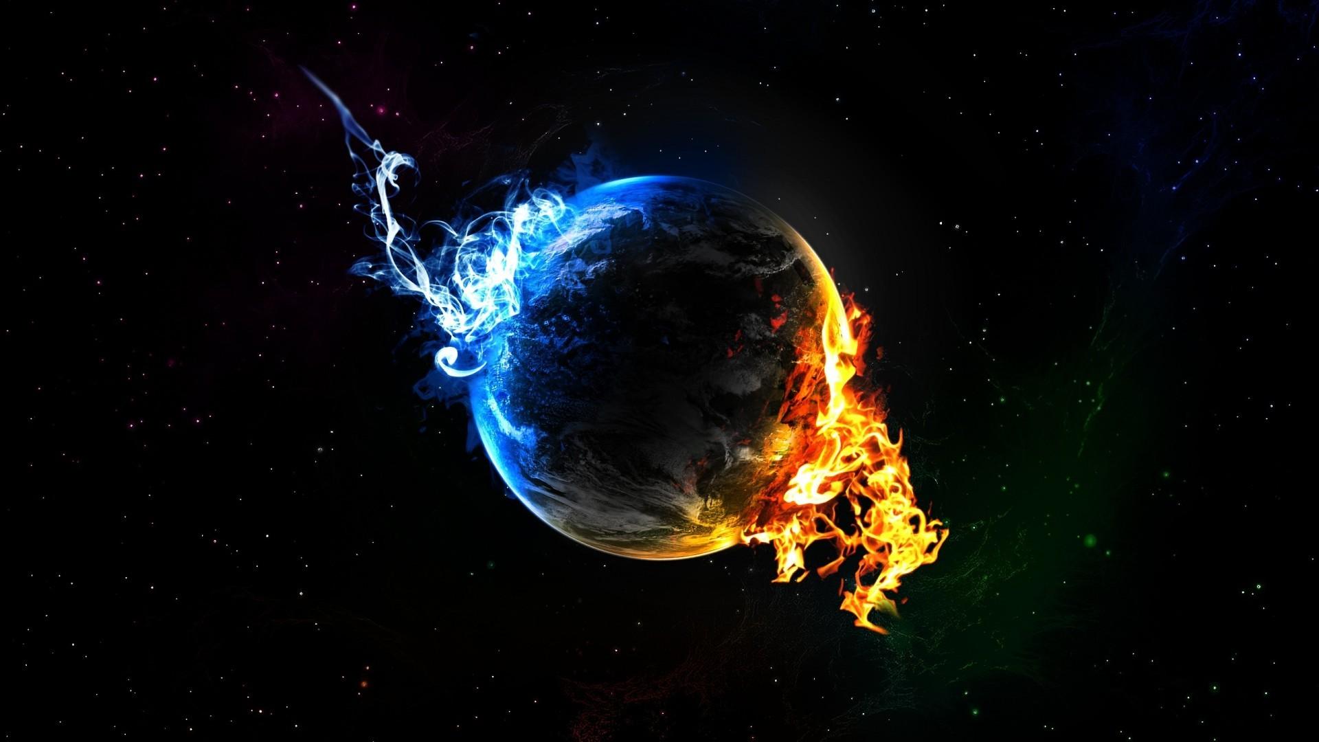Wallpapers HD earth on fire.