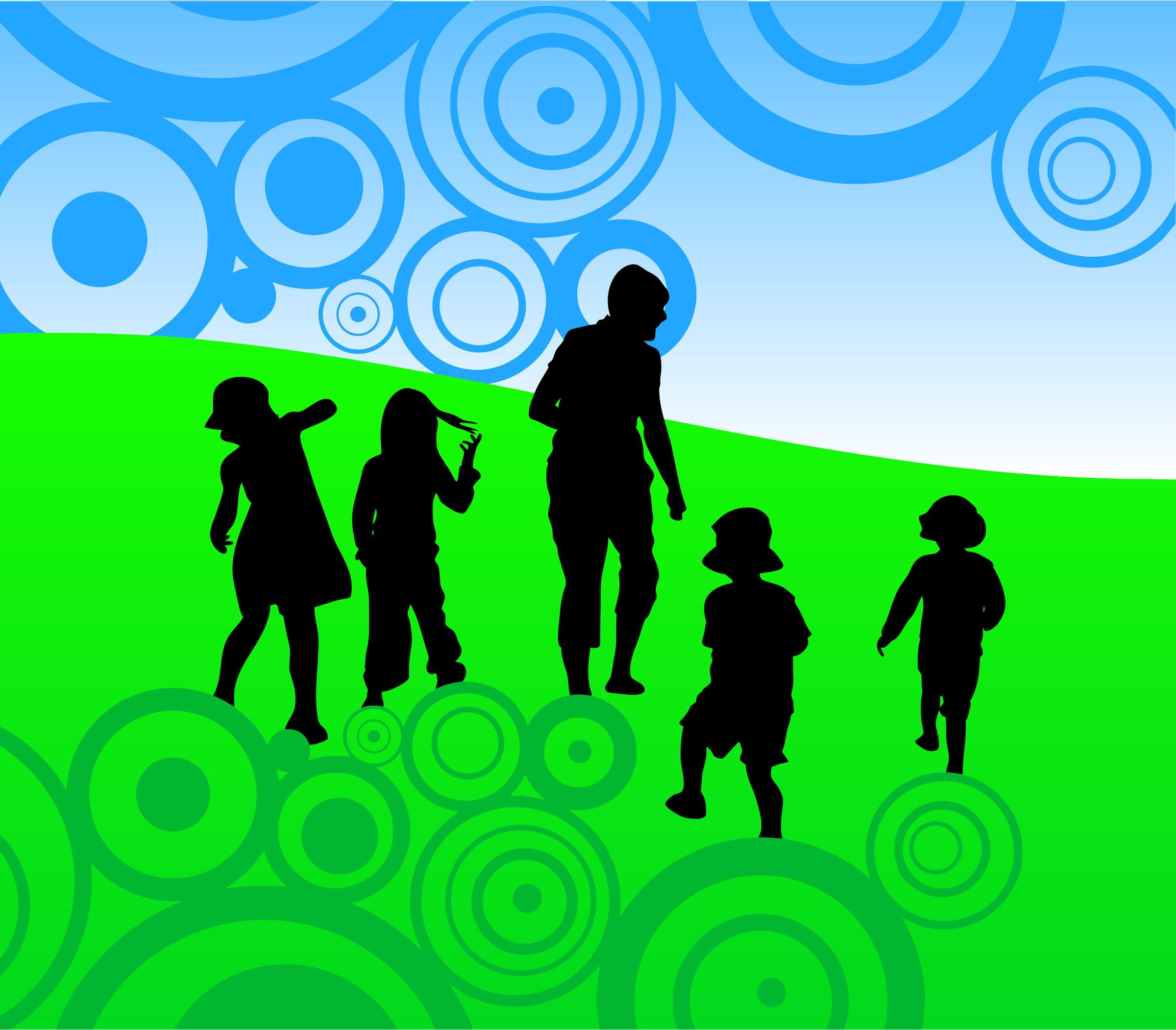 Abstract Children Background