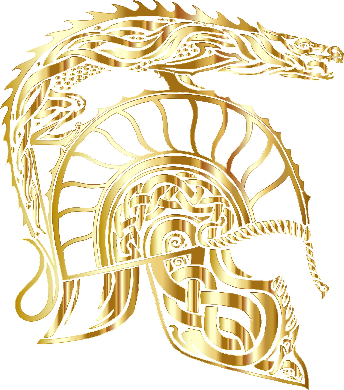 Children Of Hurin Dragon Helm Gold No Background