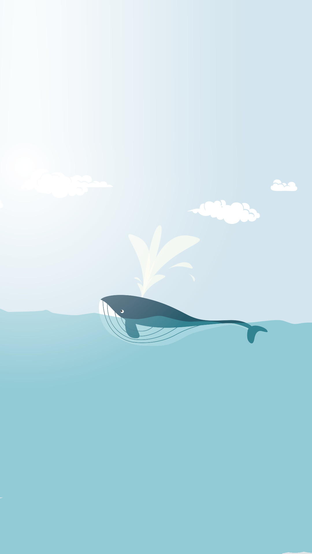 Minimal iPhone wallpapers ❤ Happy whale More · Mac WallpaperSummer WallpaperMinimalist  WallpaperDesktop …