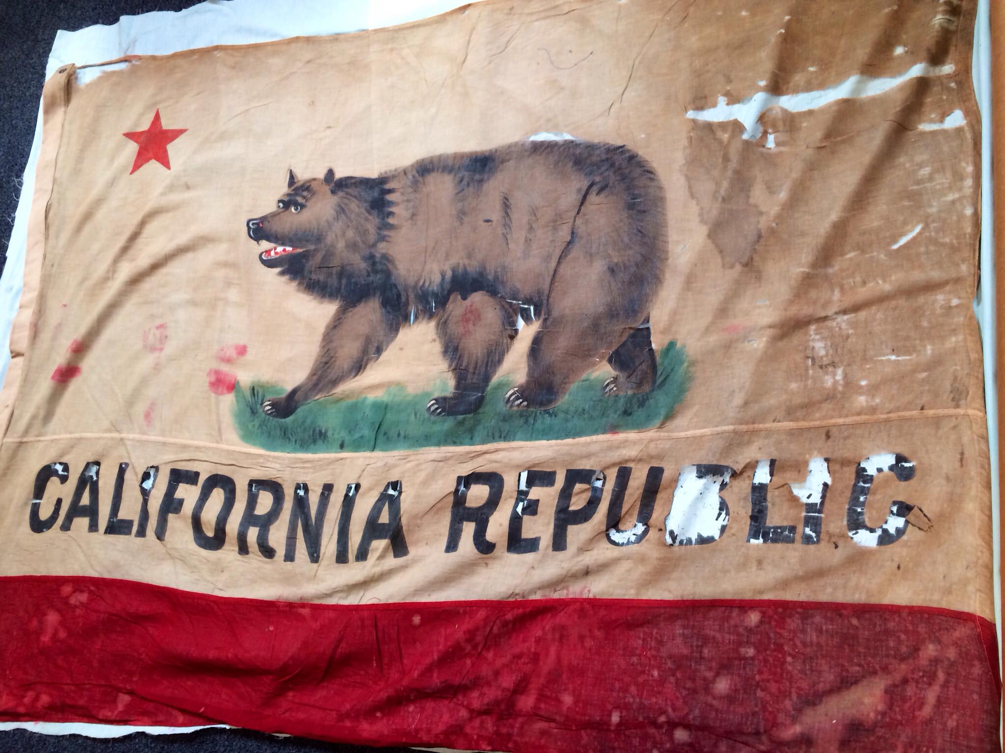 1870 hand painted California flag