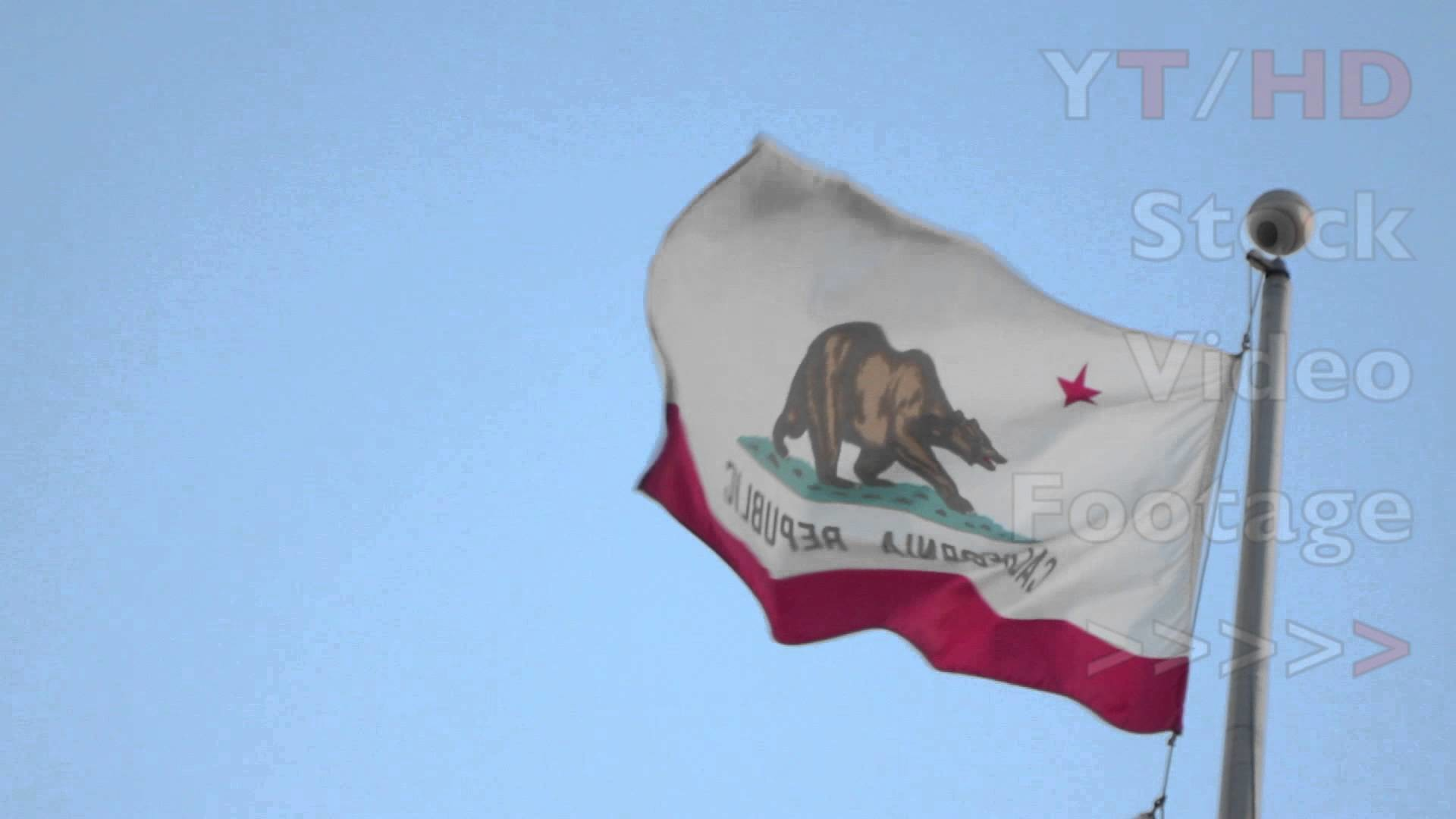 California State Flag w/ Bear & CA Republic Picture Waving on Flag Pole    HD Stock Video Footage – YouTube