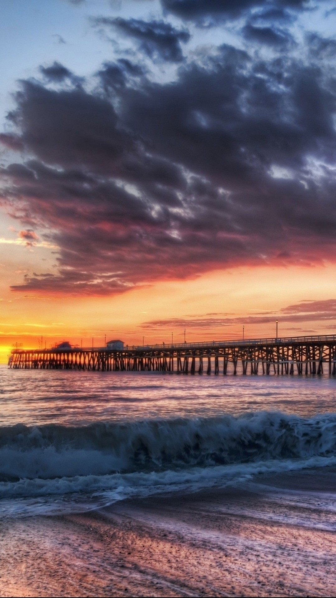 California Beach Dock Sunset iPhone 6 Wallpaper Download   iPhone .