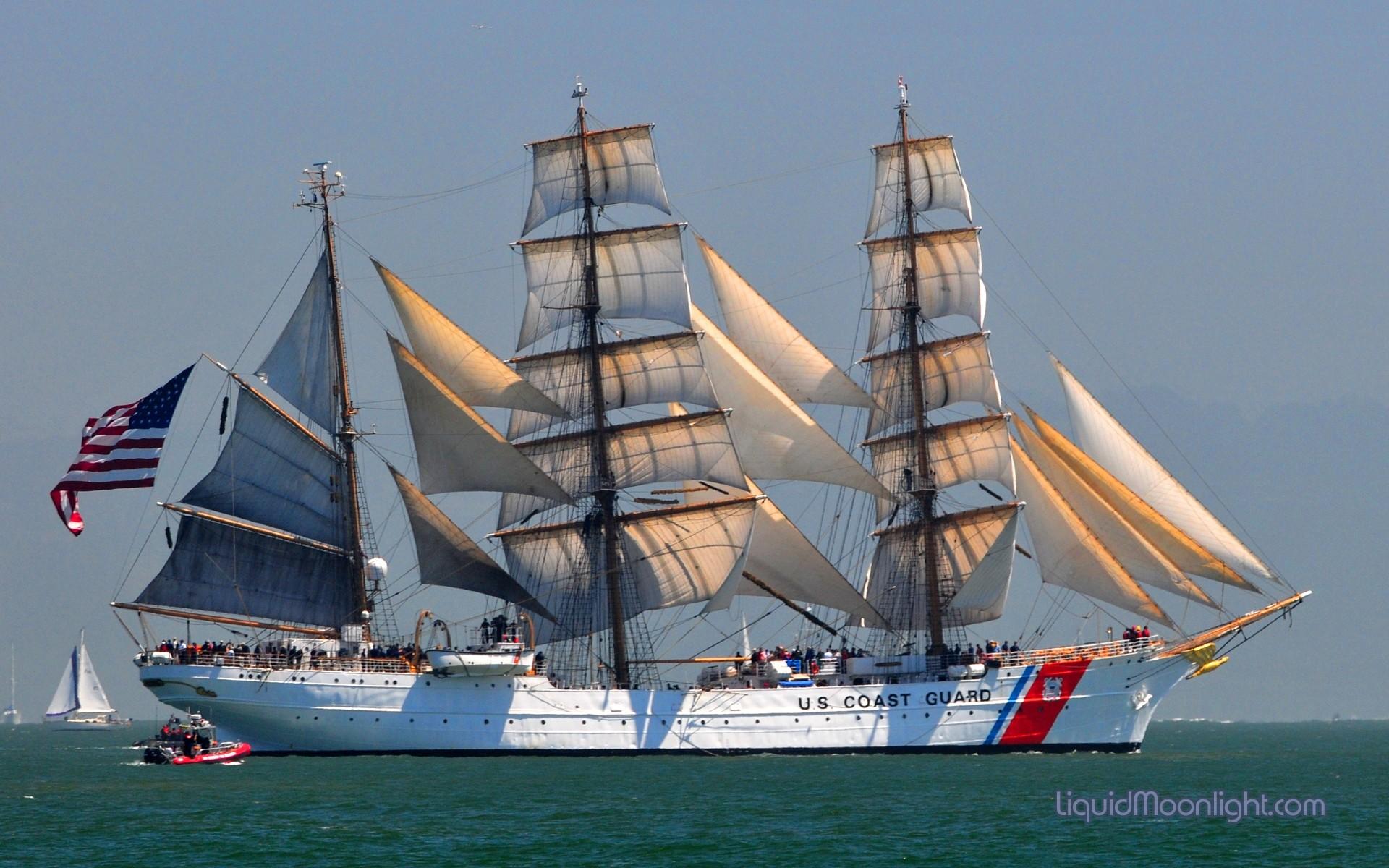 United-States-Coast-Guard-Cutter-Barque-Eagle-in-