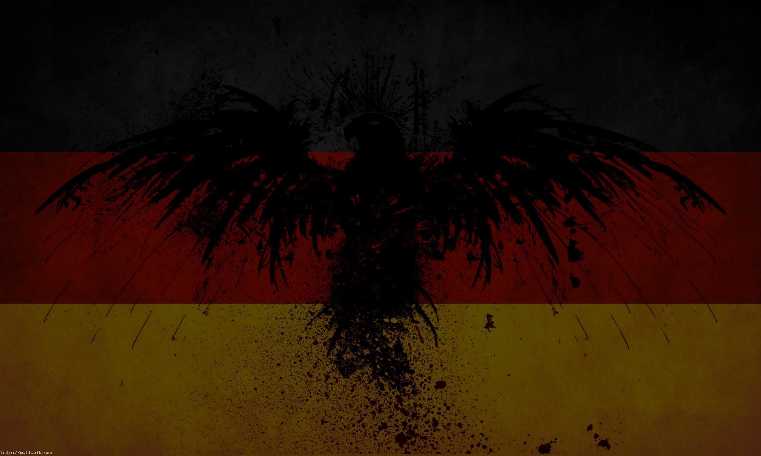 German Flag Eagle Wallpaper