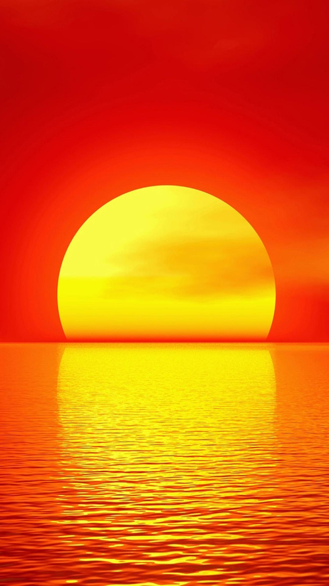 Sunset melt gold wallpaper for iphone 6 plus, iPhone 6 Plus Wallpaper