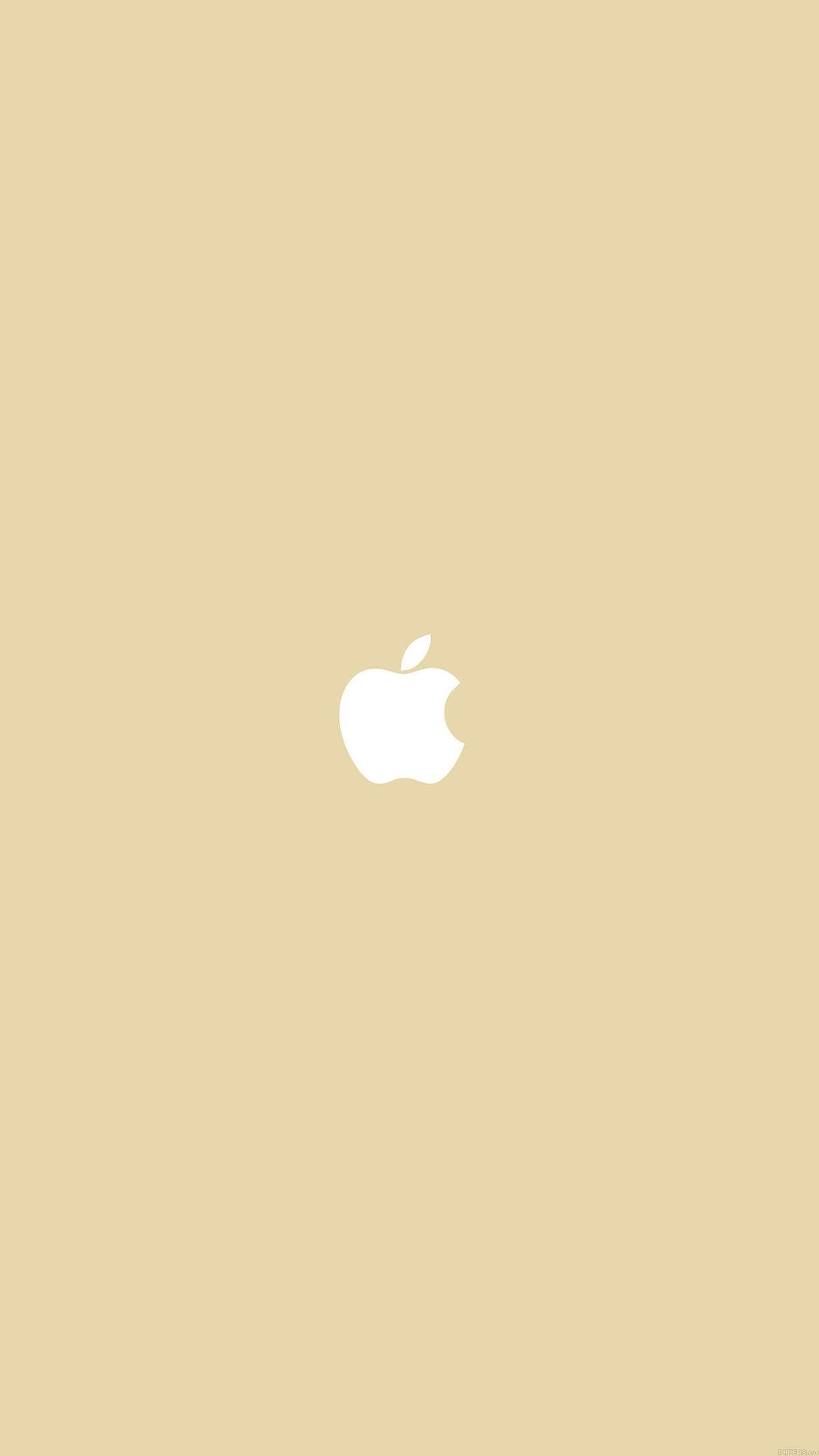 Simple Apple Logo Gold Minimal