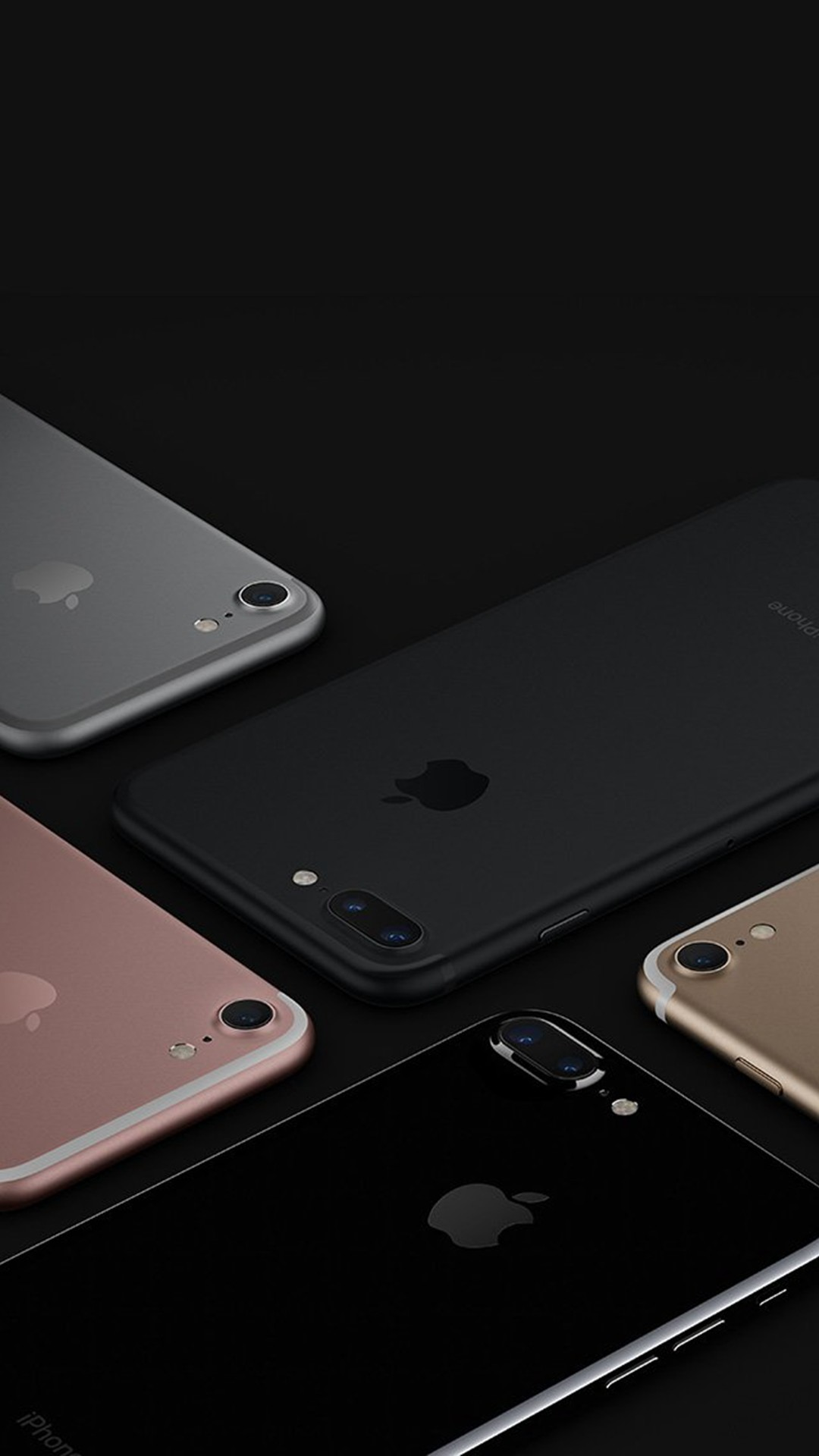 Apple iphone7 Jetblack Gold Pink Silver Dark iOS10 Art Illustration #iPhone  #6 #plus