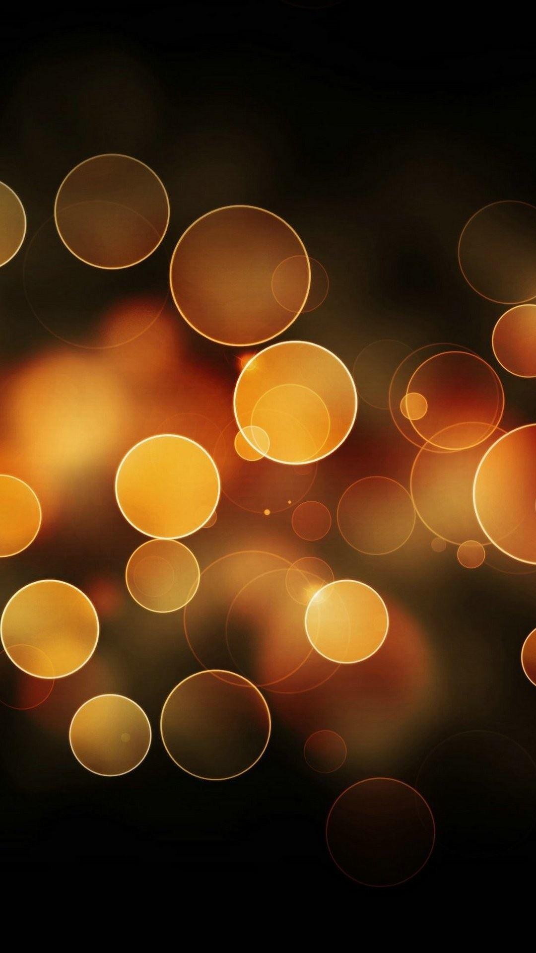 Orange Bokeh Circles iPhone 6 Plus HD Wallpaper …