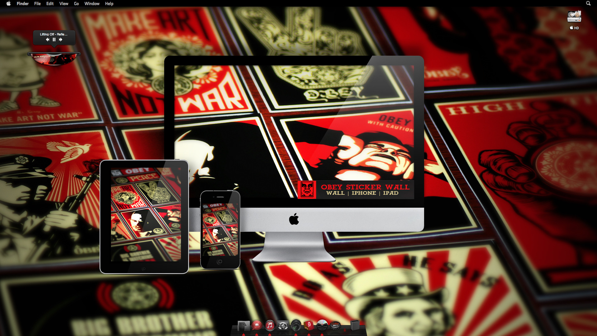 … free obey stickers sticker creations; cod ghost wallpaper …