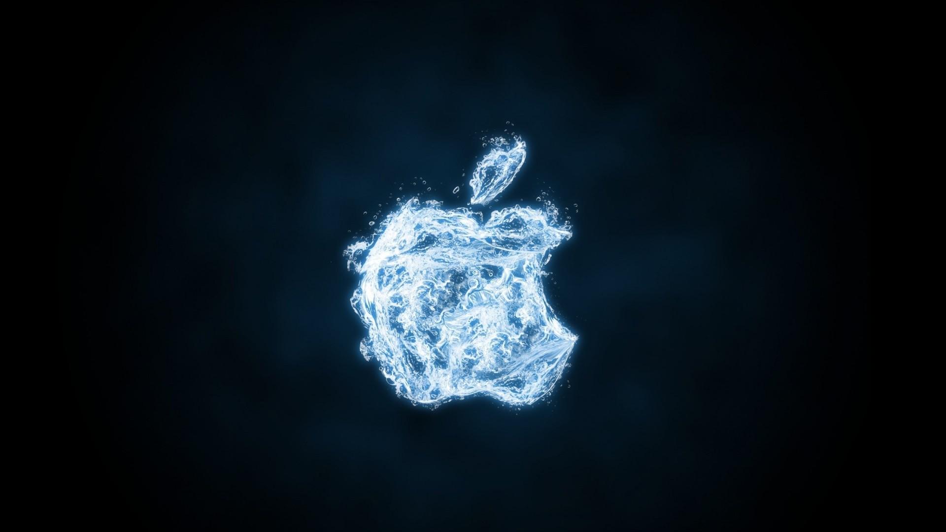 Water Apple Computer Logo Wallpaper
