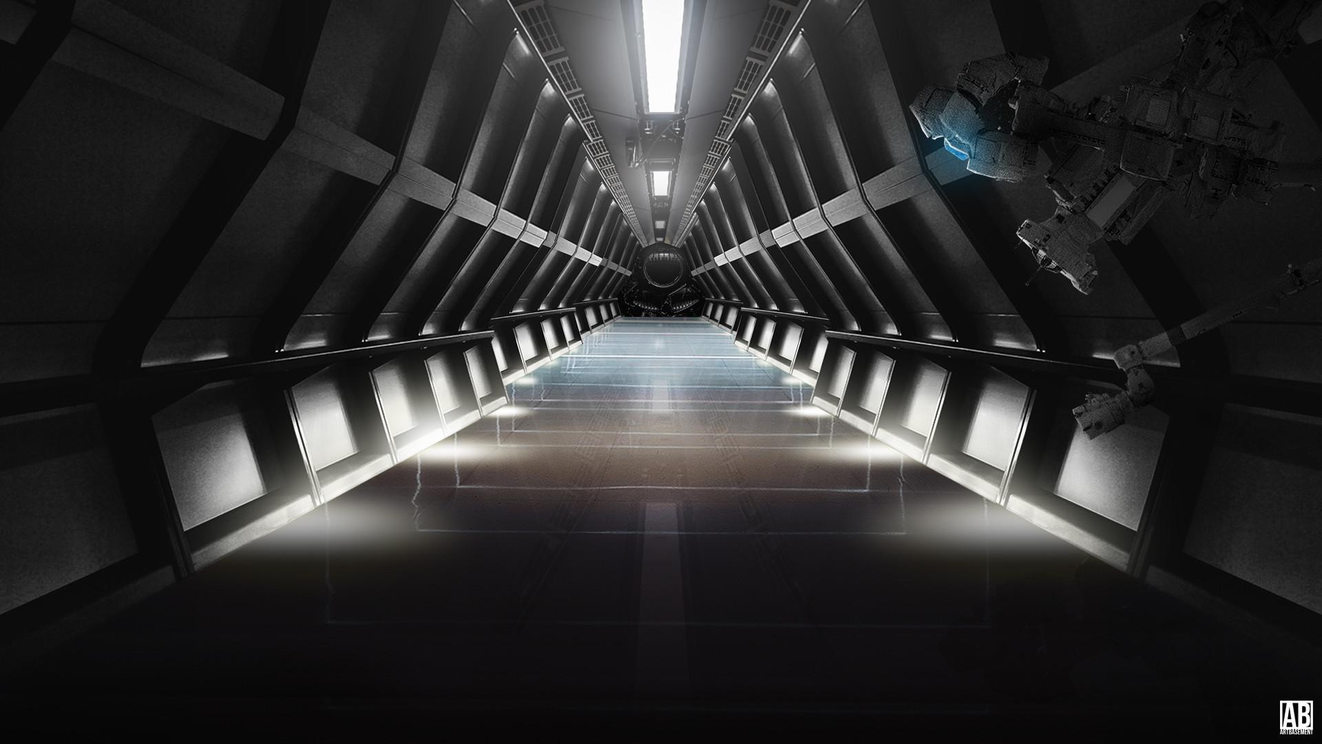 … Sci-Fi Room – Widescreen Wallpaper by ArtBasement
