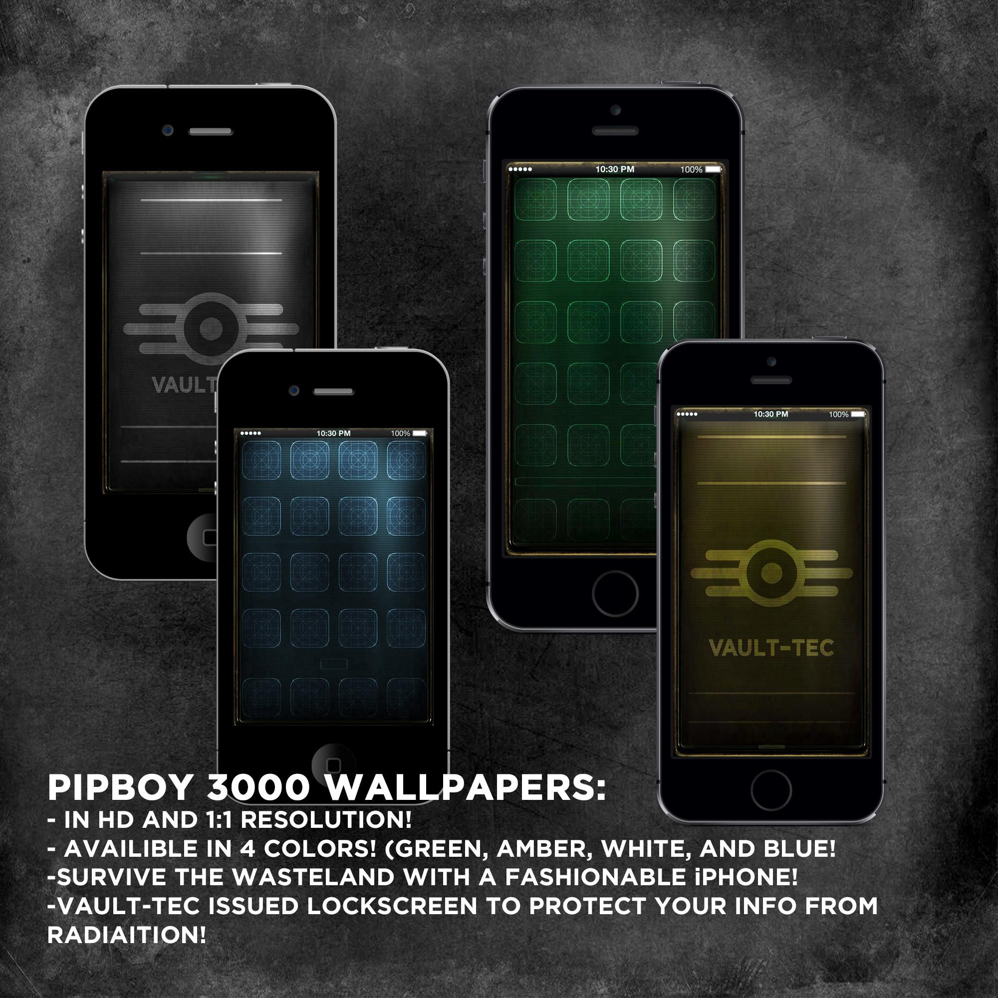 pipboy wallpapers fallout 3 nv by sitrirokoia customization wallpaper .