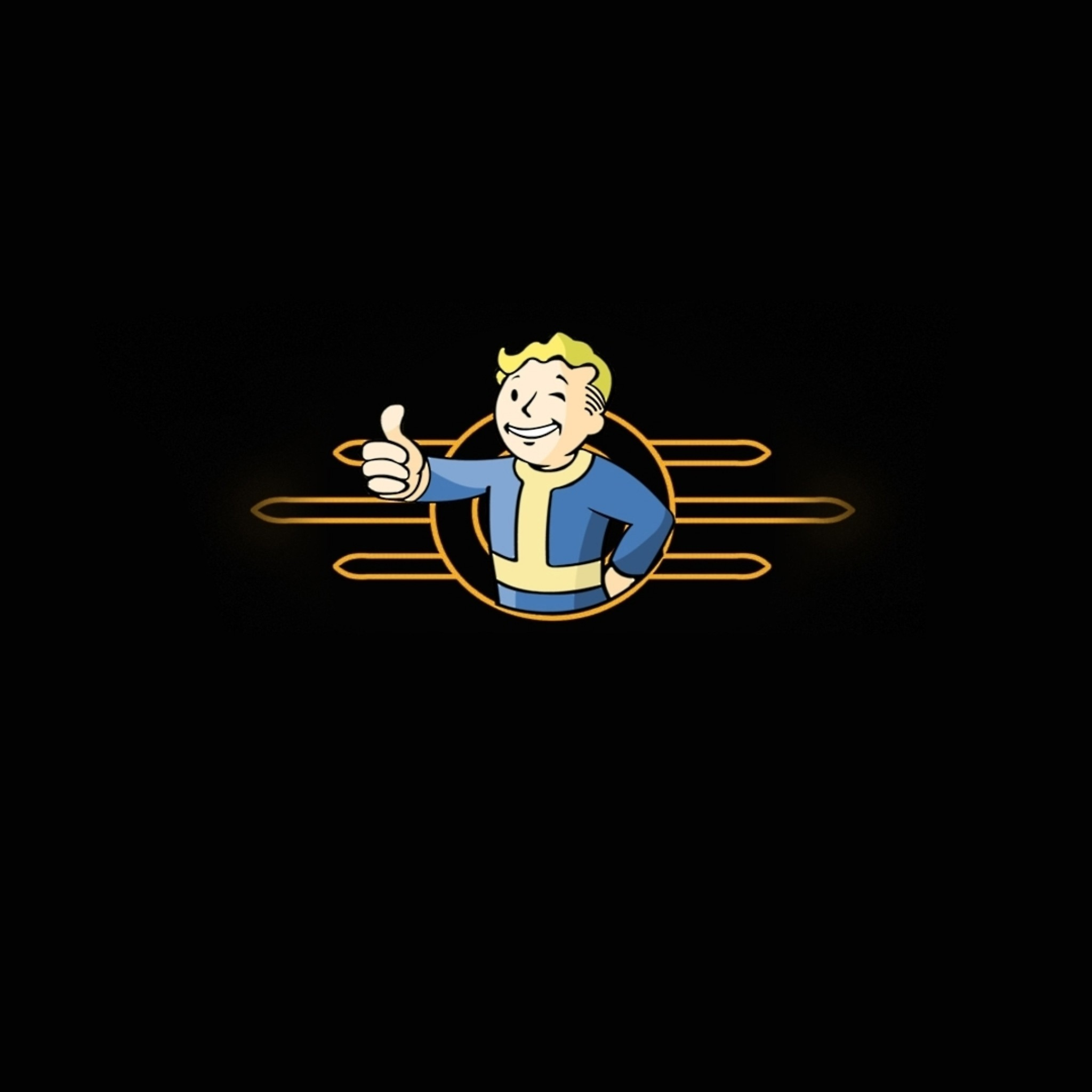 Games : Fallout 3 Vault Boy Wallpapers And Backgrounds 2048x2048Px .