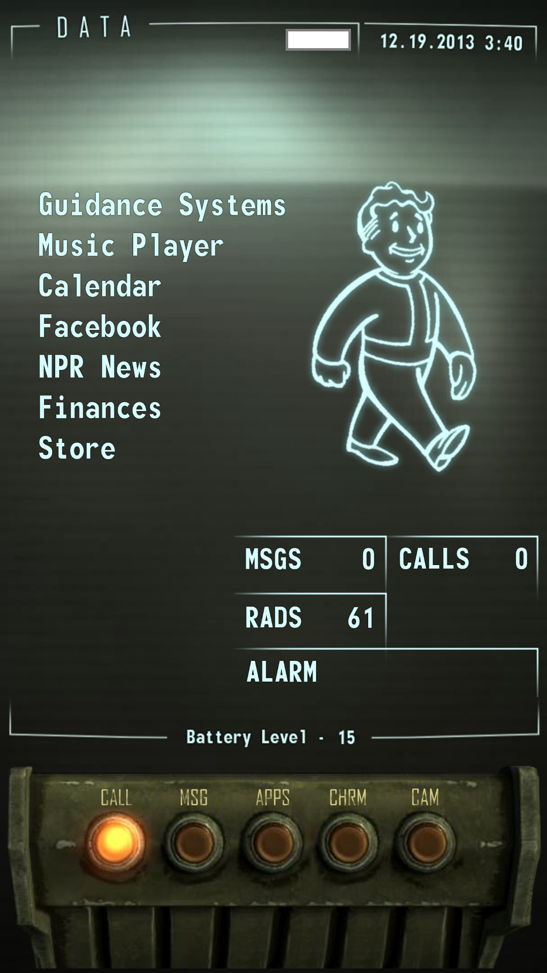 Smartphone Pipboy Skin (Fallout)