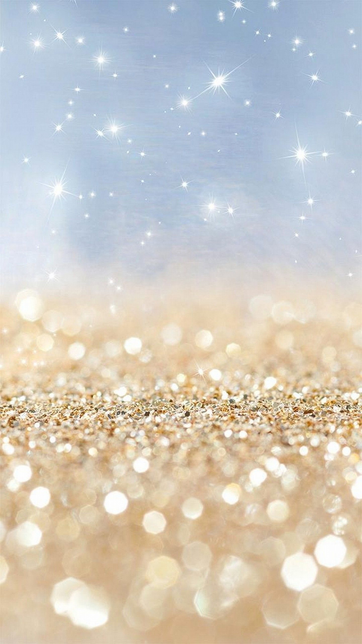 Blue & Gold Glitter …