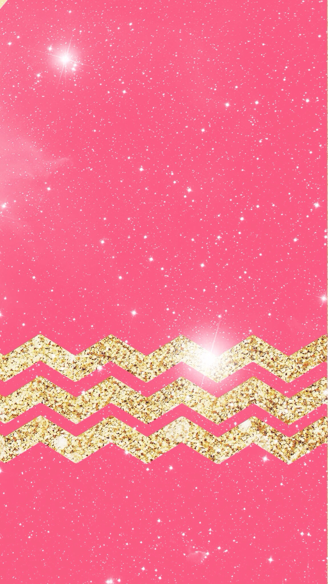 iPhone wallpaper pink and gold