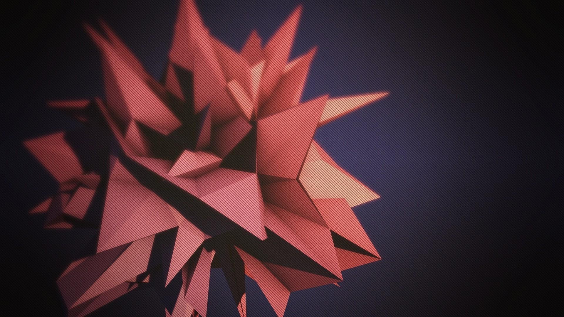 Polygon starry shape HD wallpaper | 3D Desktop Wallpaper