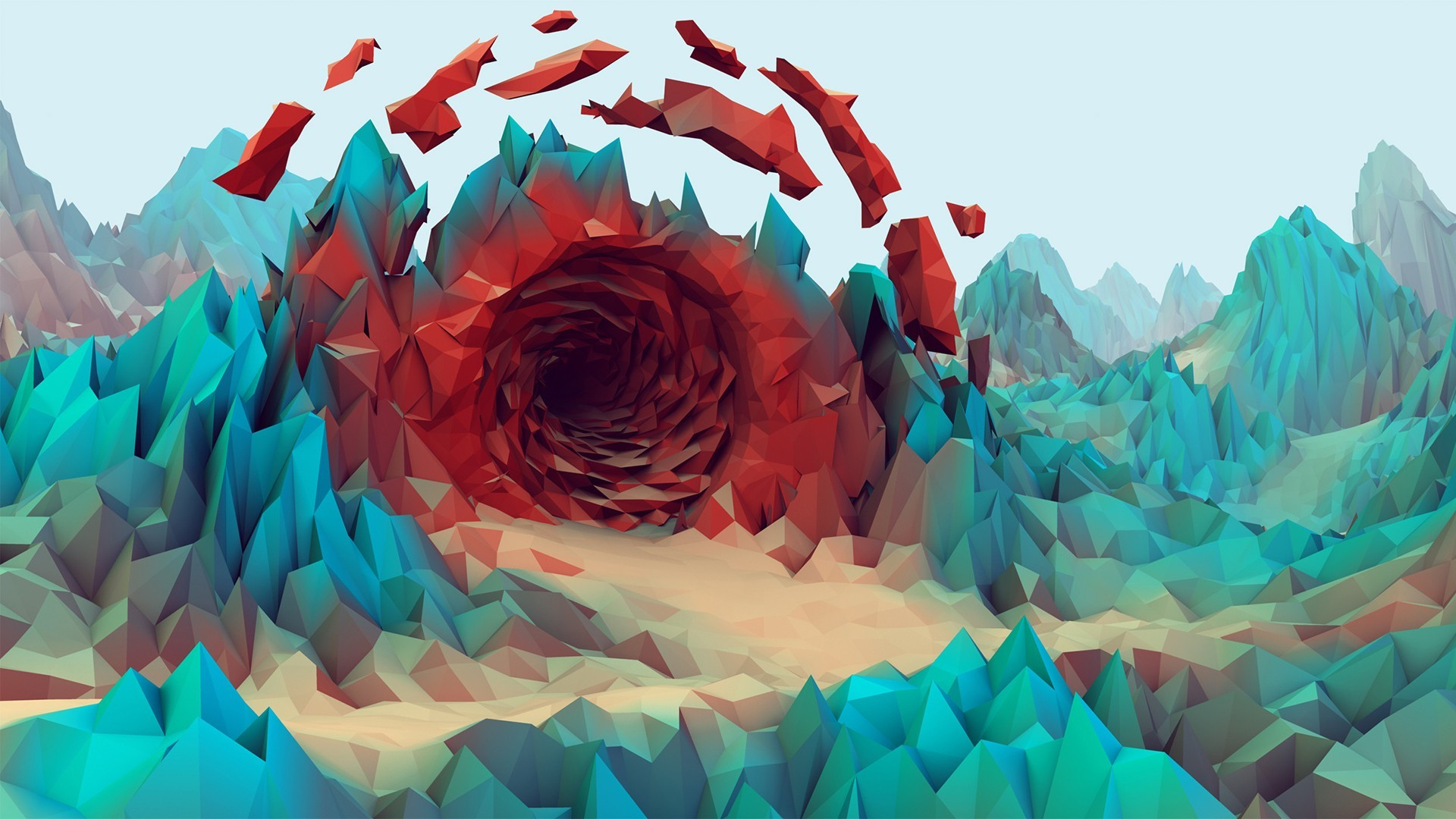 Low Polygon Cave Wallpaper | 2400×1200 | ID:50780 | Branding | Pinterest |  Low poly, Wallpaper and Polygon art